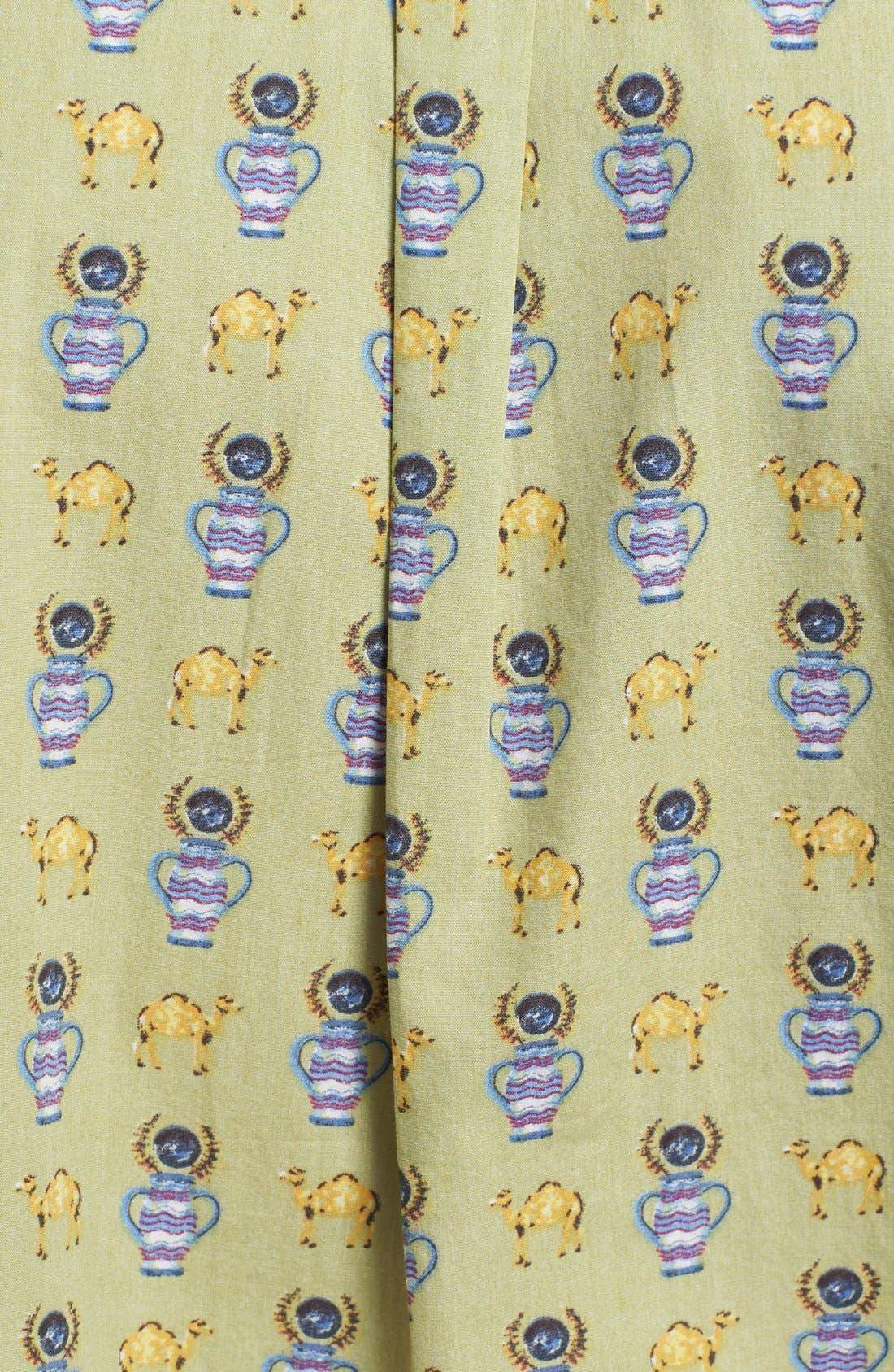 Alternate Image 2  - RVCA 'Alsweiler Camel' Print Short Sleeve Shirt