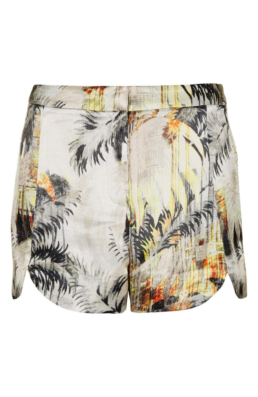 Alternate Image 3  - Topshop Palm Print Woven Shorts