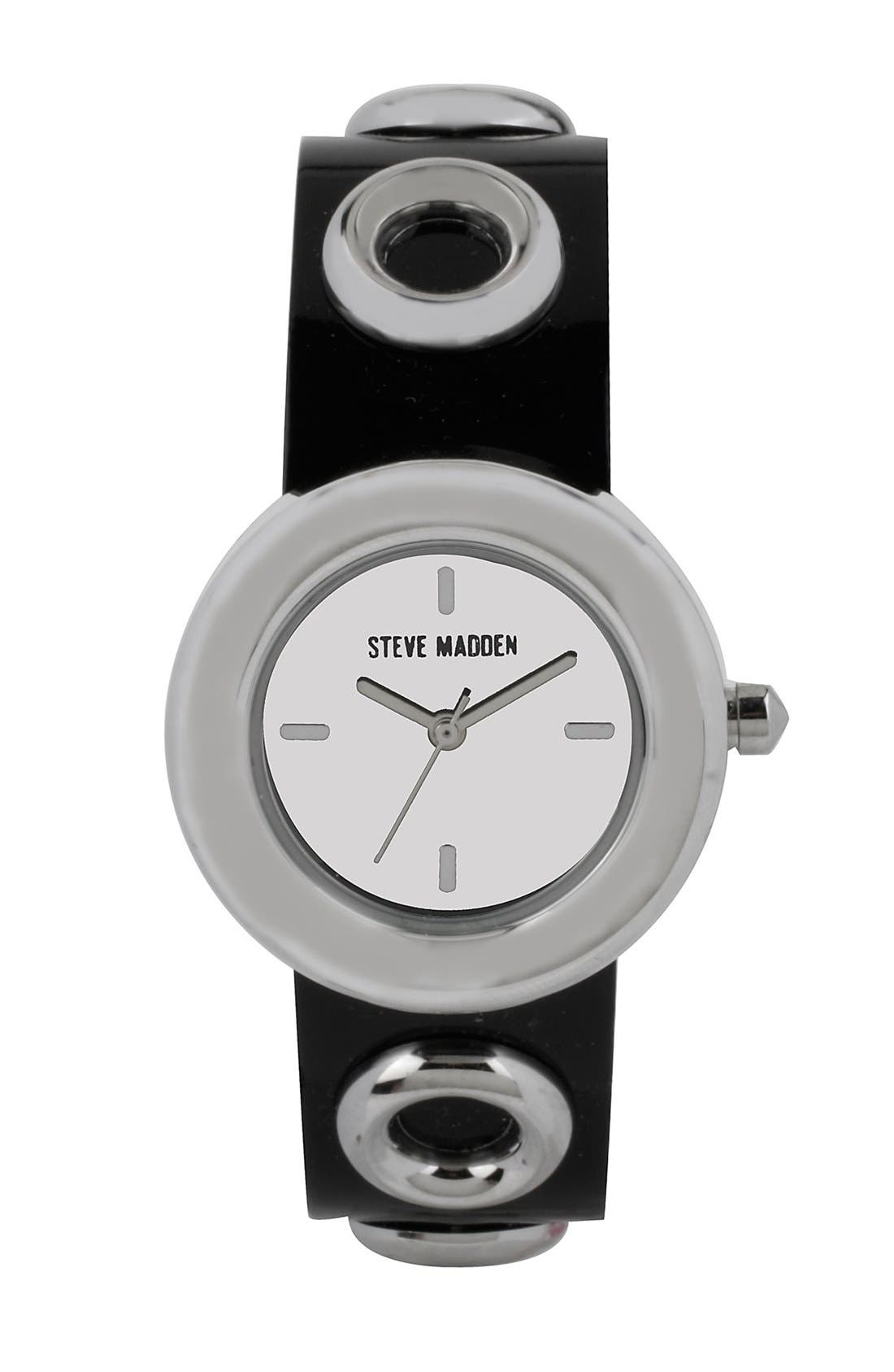 Alternate Image 1 Selected - Steve Madden Grommet Strap Watch, 30mm