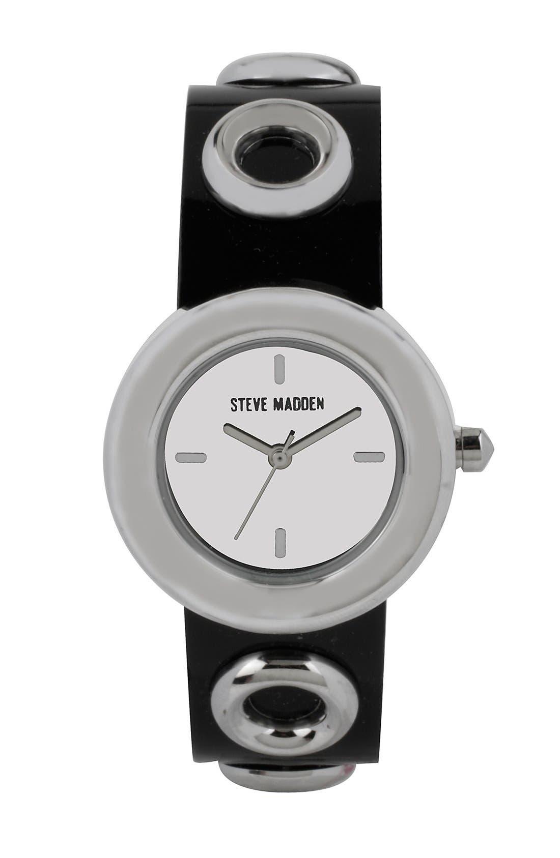 Main Image - Steve Madden Grommet Strap Watch, 30mm