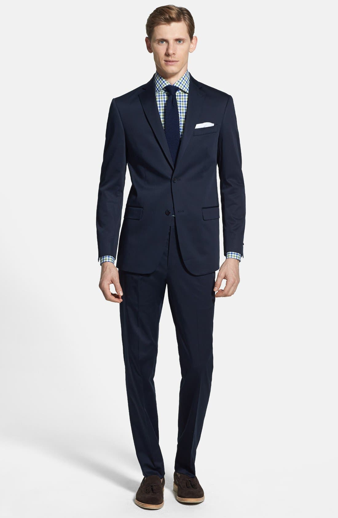 Main Image - 2B SV FF SOLID TRIM FIT SUIT