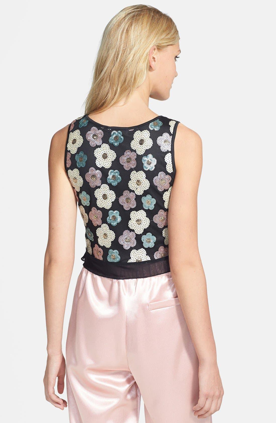 Alternate Image 2  - Tildon Sequin Floral Crop Top