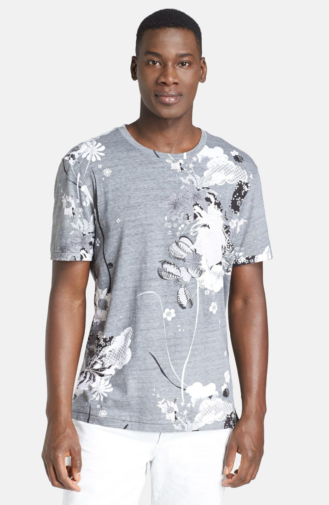 Alternate Image 1 Selected - rag & bone 'Leo' Allover Print Crewneck T-Shirt