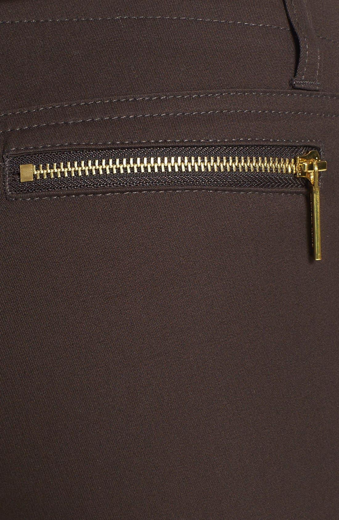Zip Pocket Skinny Pants,                             Alternate thumbnail 3, color,                             Chocolate
