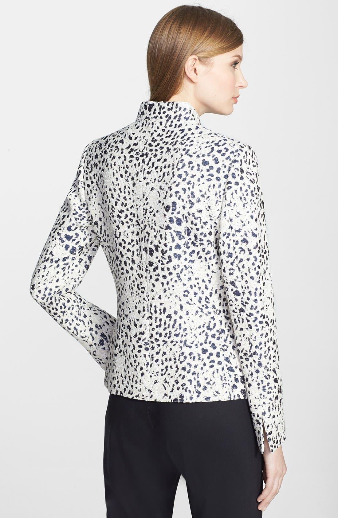 Alternate Image 2  - Santorelli Leopard Jacquard Jacket