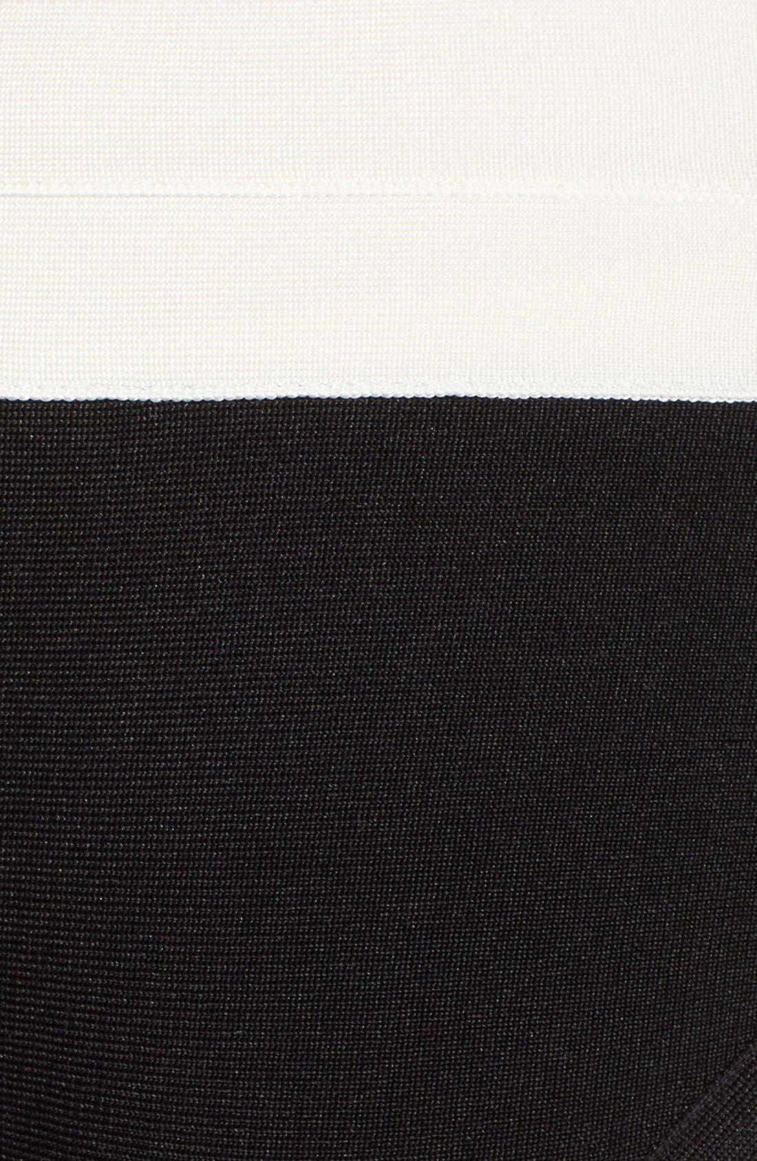 Alternate Image 7  - Herve Leger Black & White Bandage Two-Piece Bikini