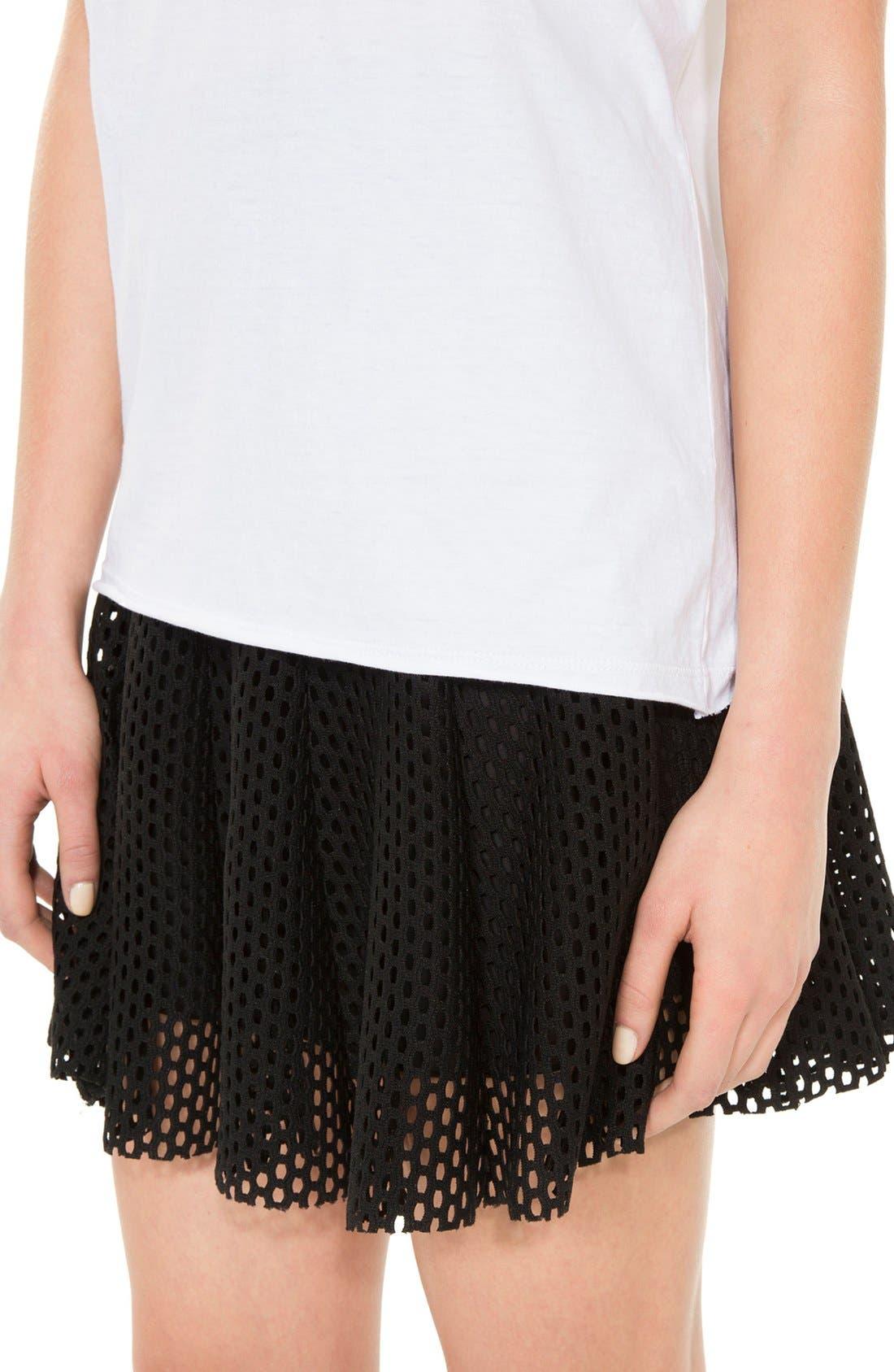 Alternate Image 3  - sandro 'Jackpot' Flare Mesh Skirt
