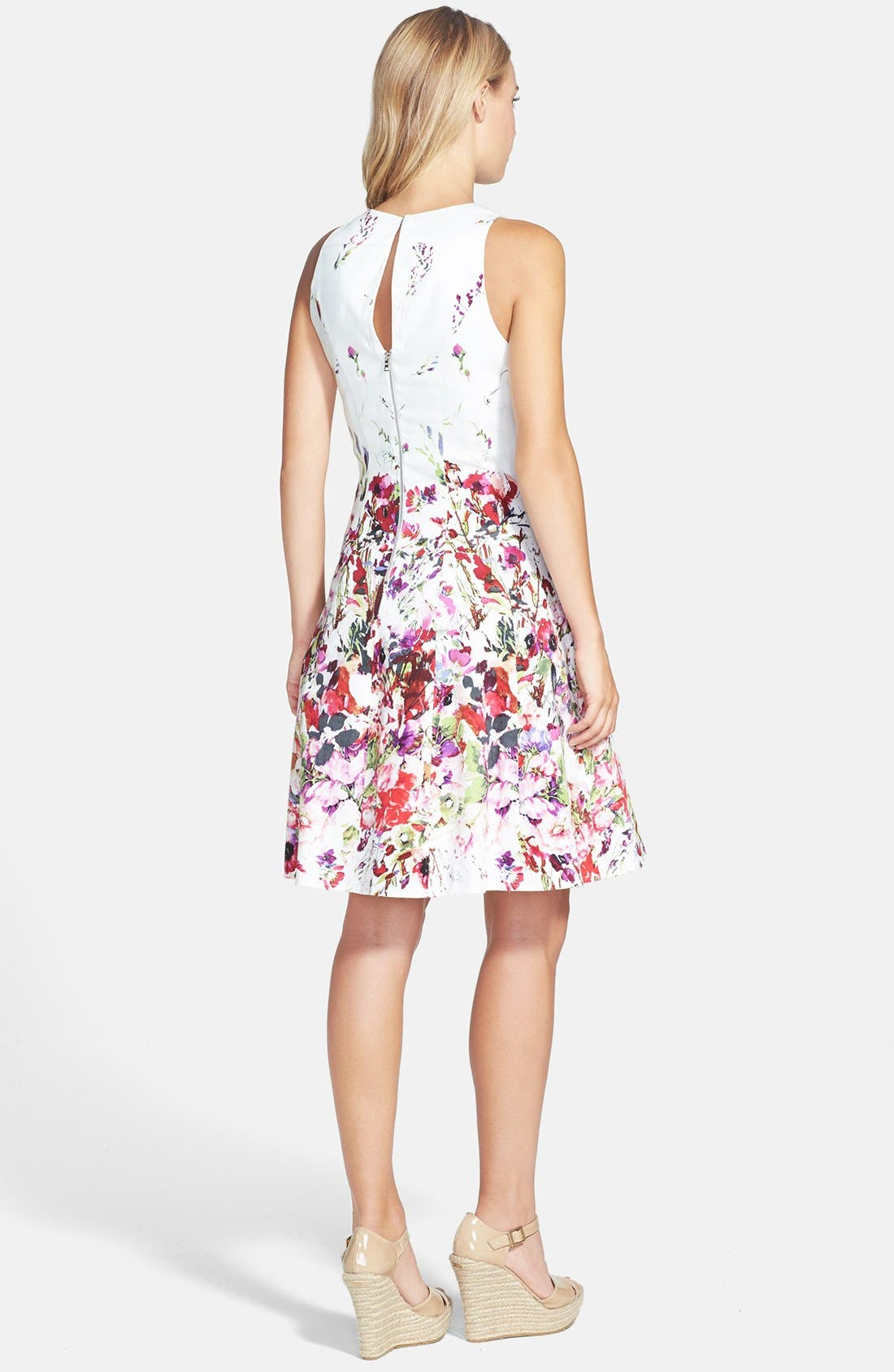 Alternate Image 2  - Maggy London Print Stretch Cotton Fit & Flare Dress