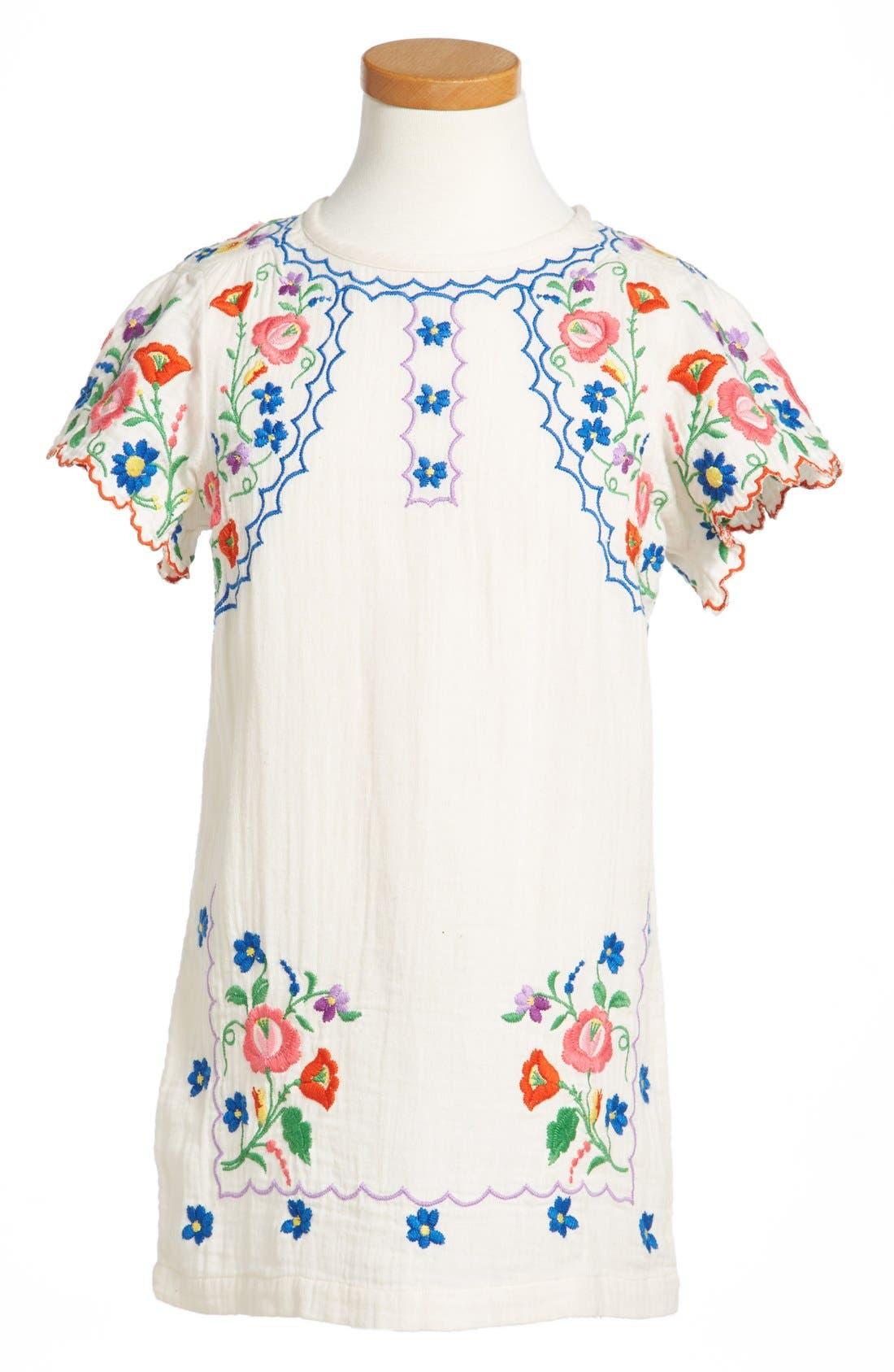 Alternate Image 1 Selected - Stella McCartney Kids Flower Dress (Toddler Girls & Little Girls)