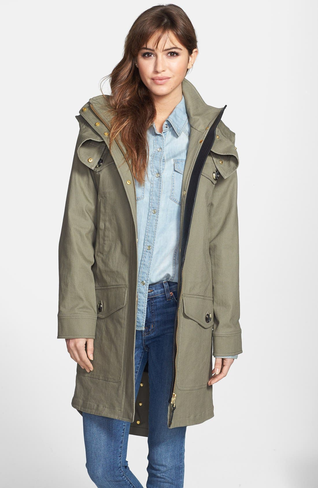 Alternate Image 1 Selected - Mackage Canvas Utility Coat with Removable Liner