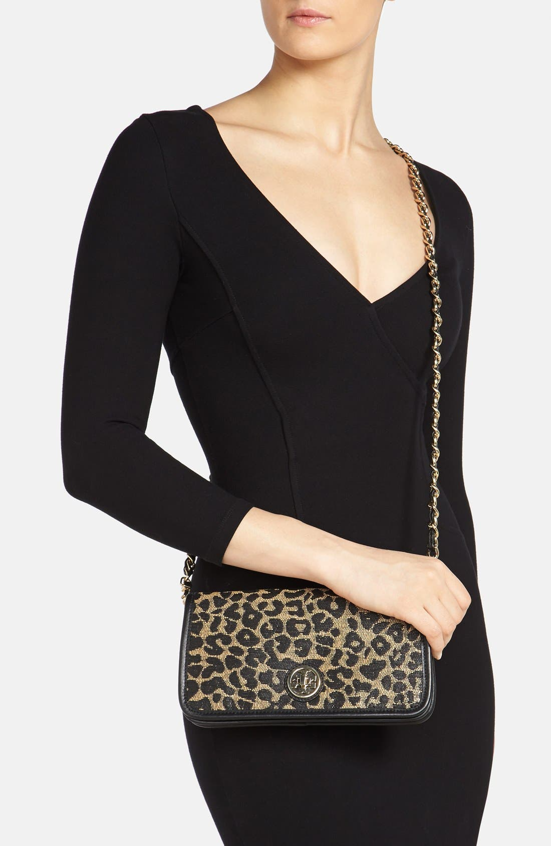 Alternate Image 2  - Tory Burch 'Adalyn' Leopard Raffia Clutch