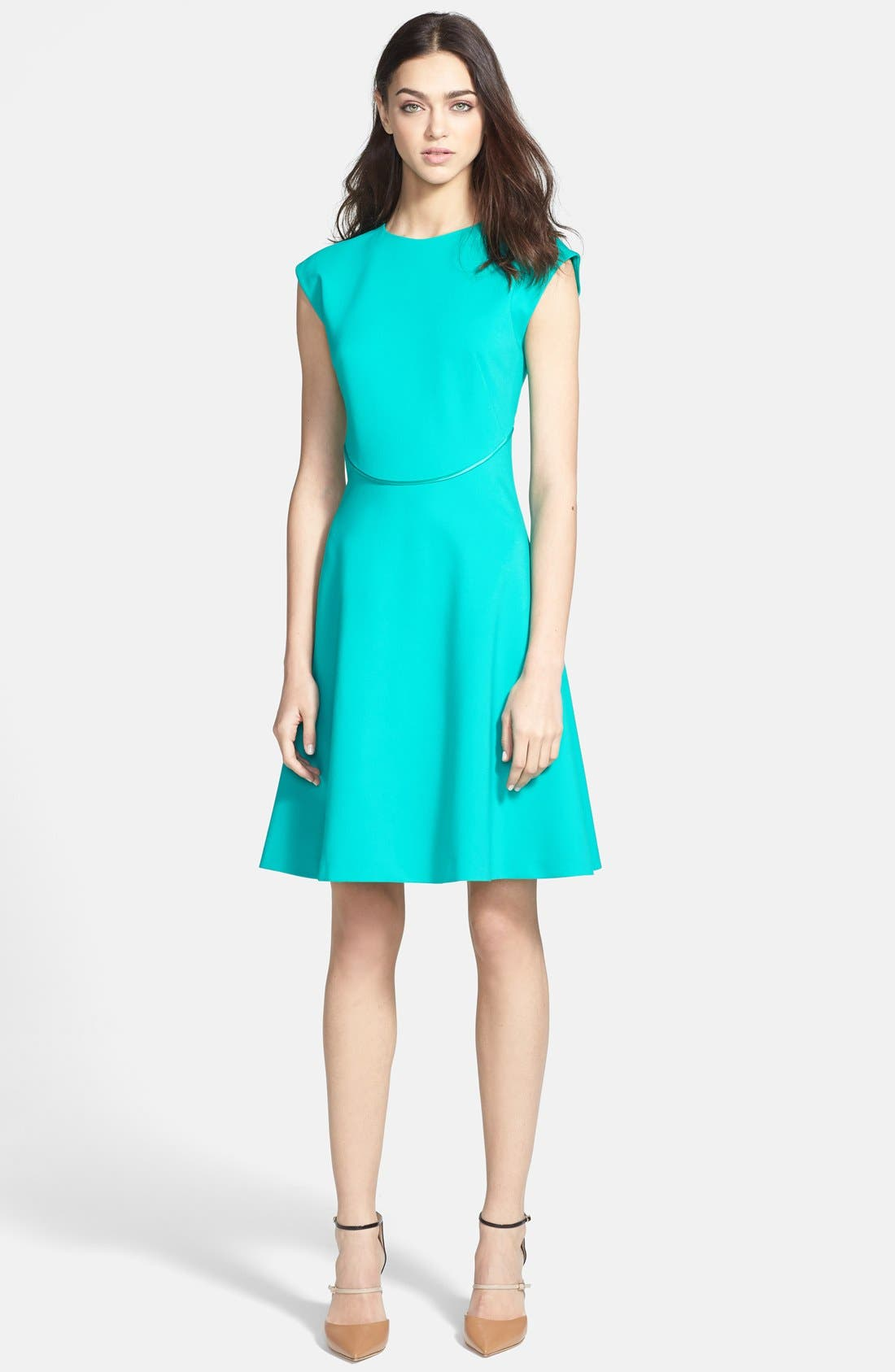 Alternate Image 1 Selected - Ted Baker London Stretch A-Line Dress