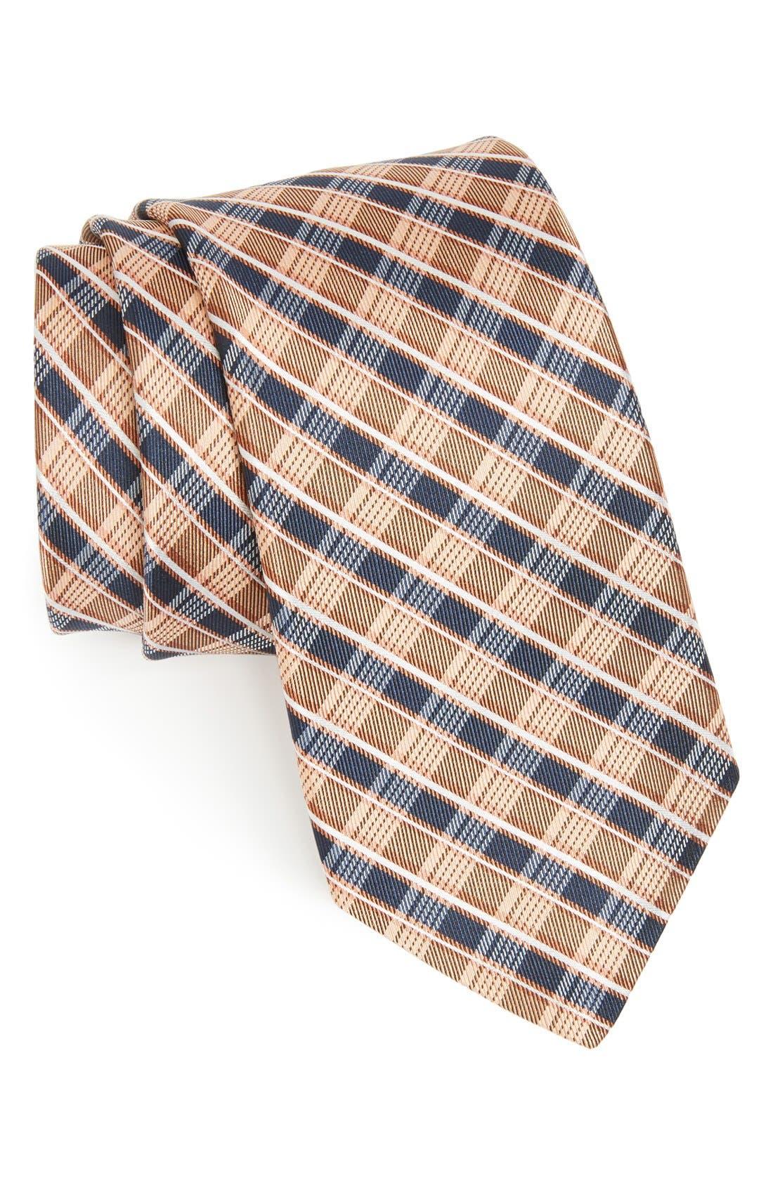 Main Image - Michael Kors Plaid Woven Silk Tie