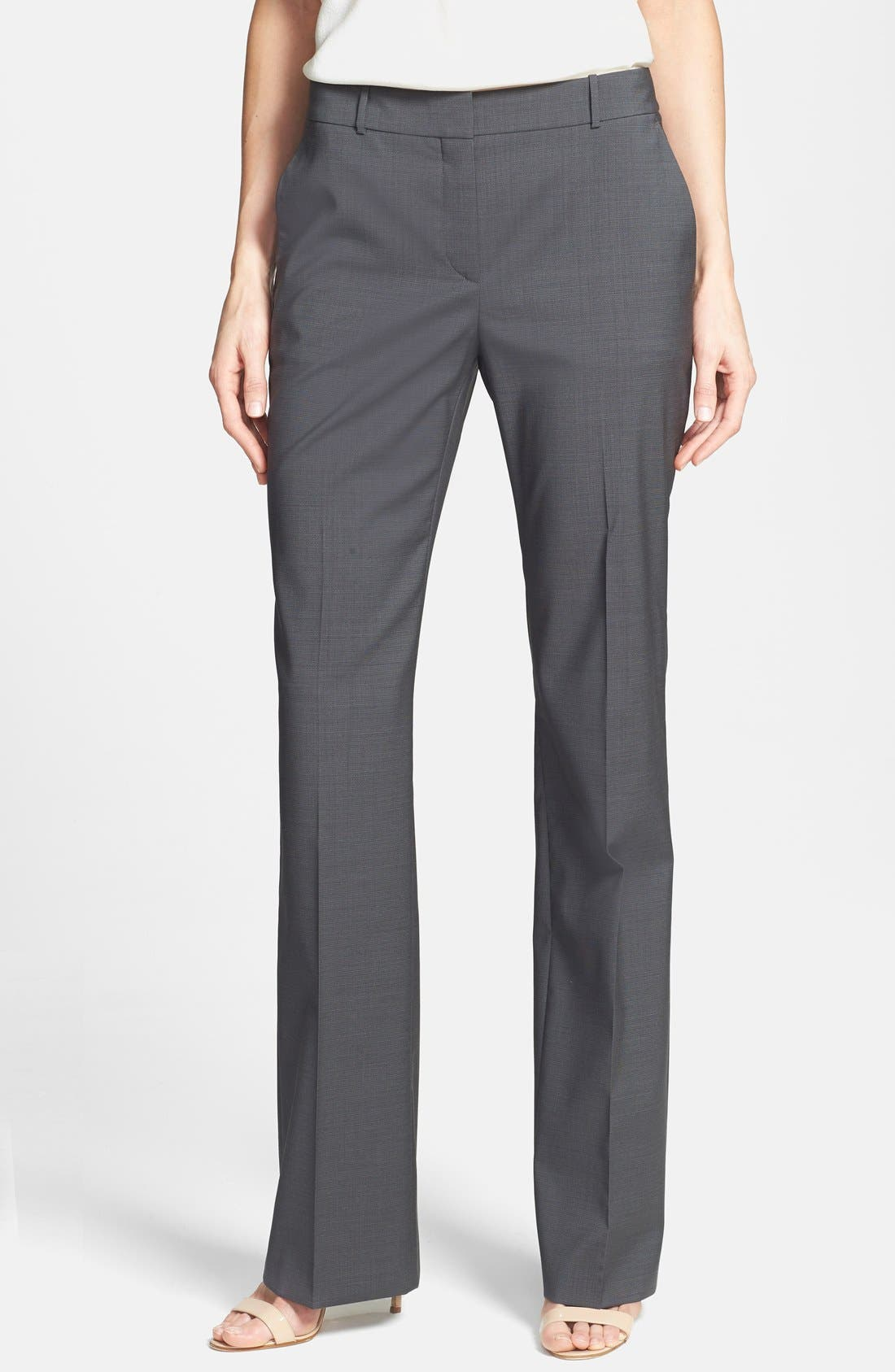 Alternate Image 1 Selected - BOSS HUGO BOSS 'Taliani' Stretch Wool Blend Pants