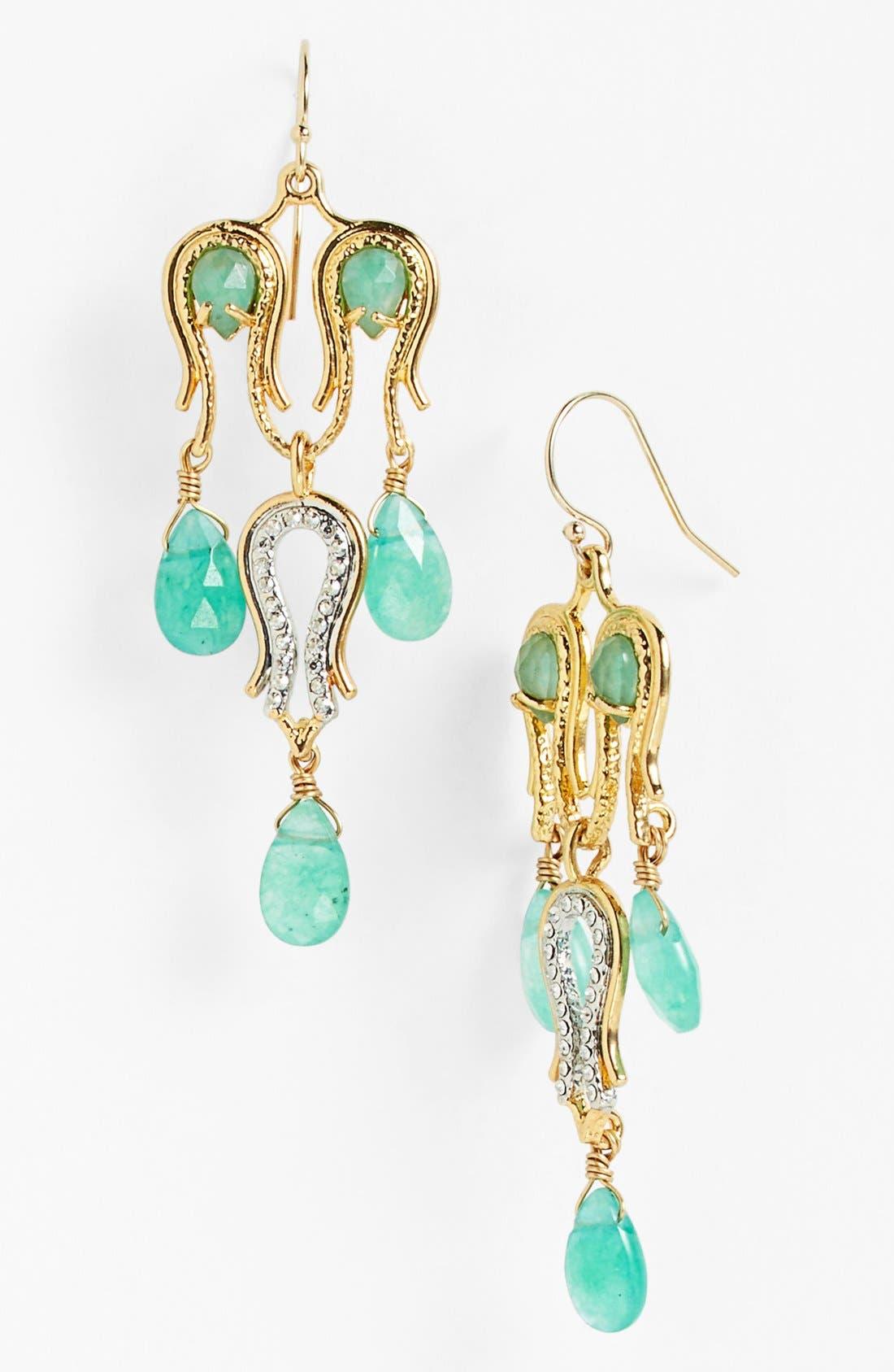 Alternate Image 1 Selected - Alexis Bittar 'Elements - Maldivian' Semiprecious Stone Chandelier Earrings