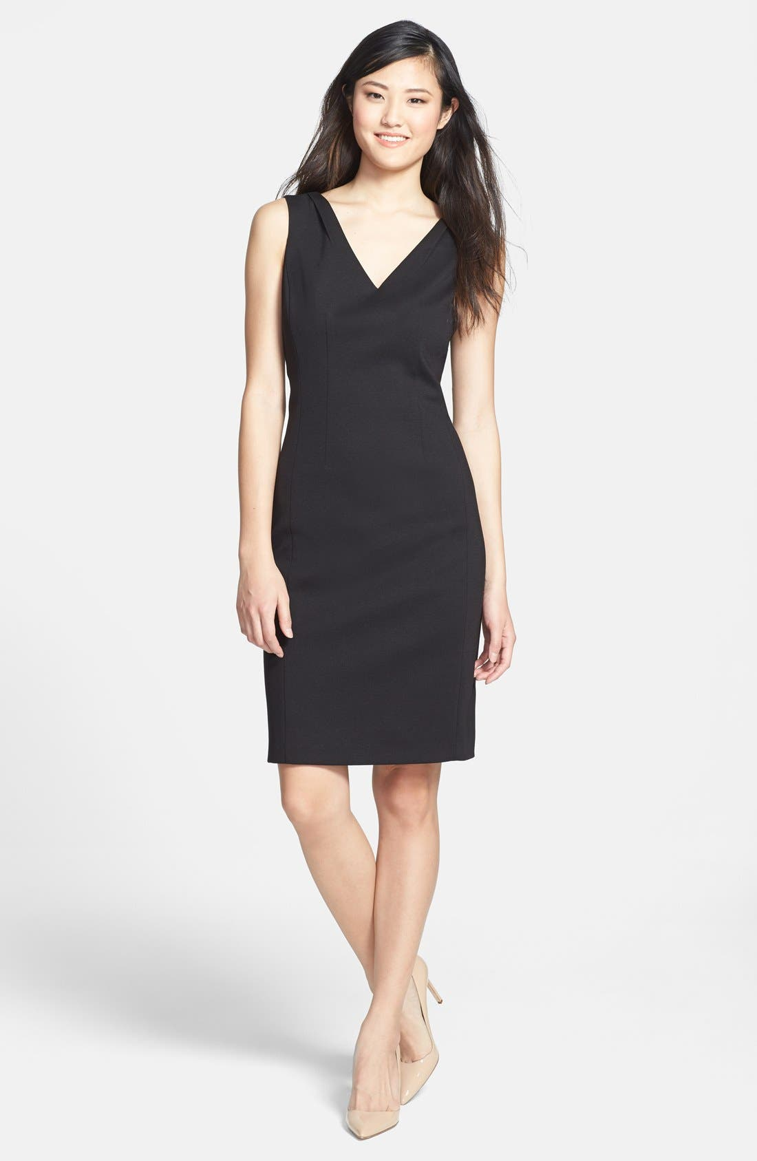 Alternate Image 1 Selected - T Tahari 'Everly' V-Neck Sheath Dress