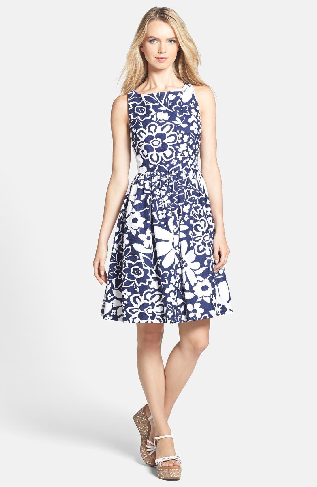 Alternate Image 1 Selected - kate spade new york cutaway back fit & flare dress