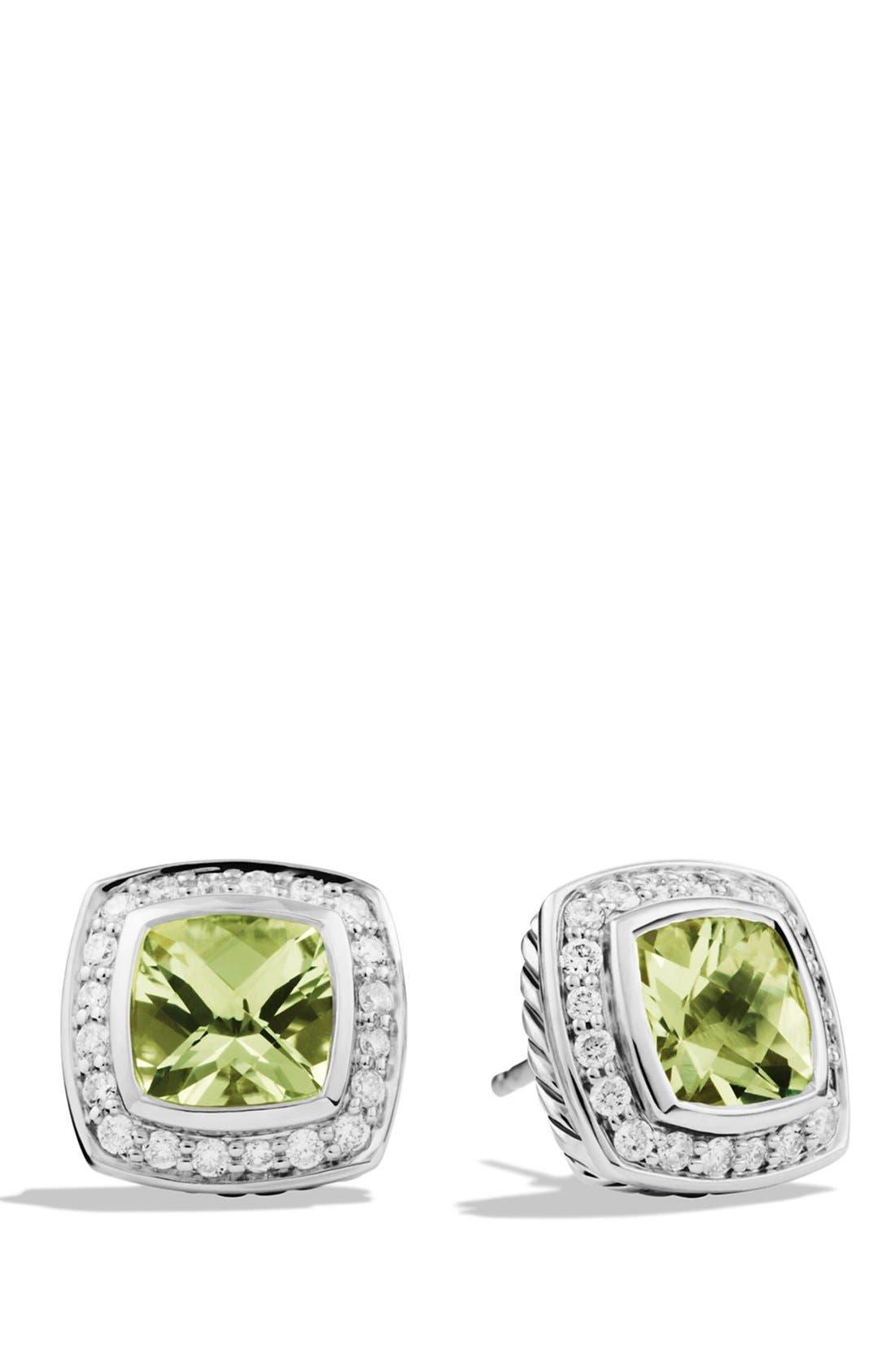 Alternate Image 1 Selected - David Yurman 'Albion' Petite Earrings with Semiprecious Stones & Diamonds