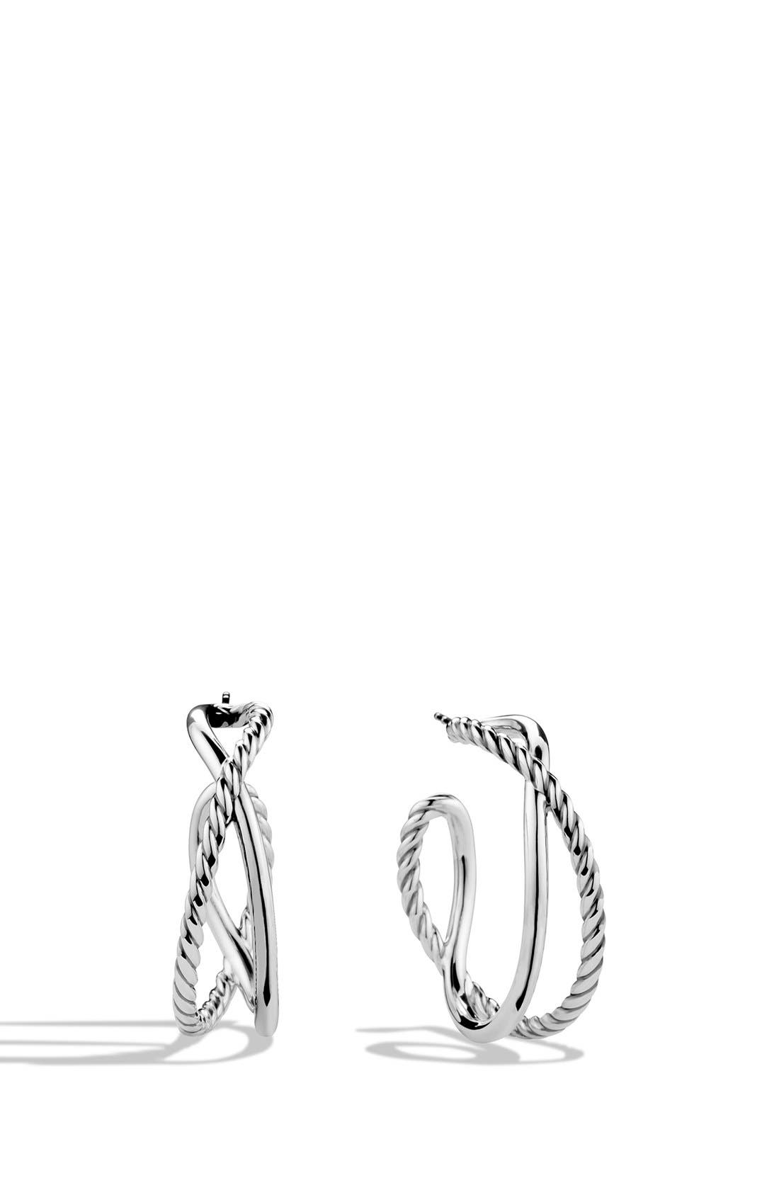 David Yurman 'Crossover' Hoop Earrings