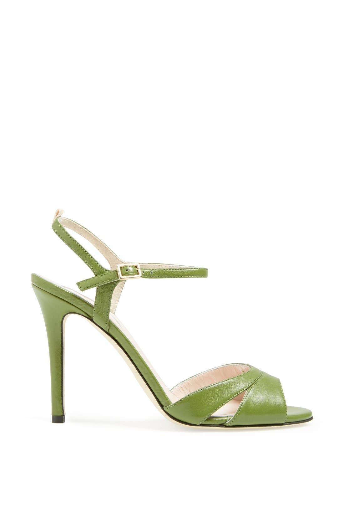 SJP 'Anna' Sandal,                             Alternate thumbnail 5, color,                             Green