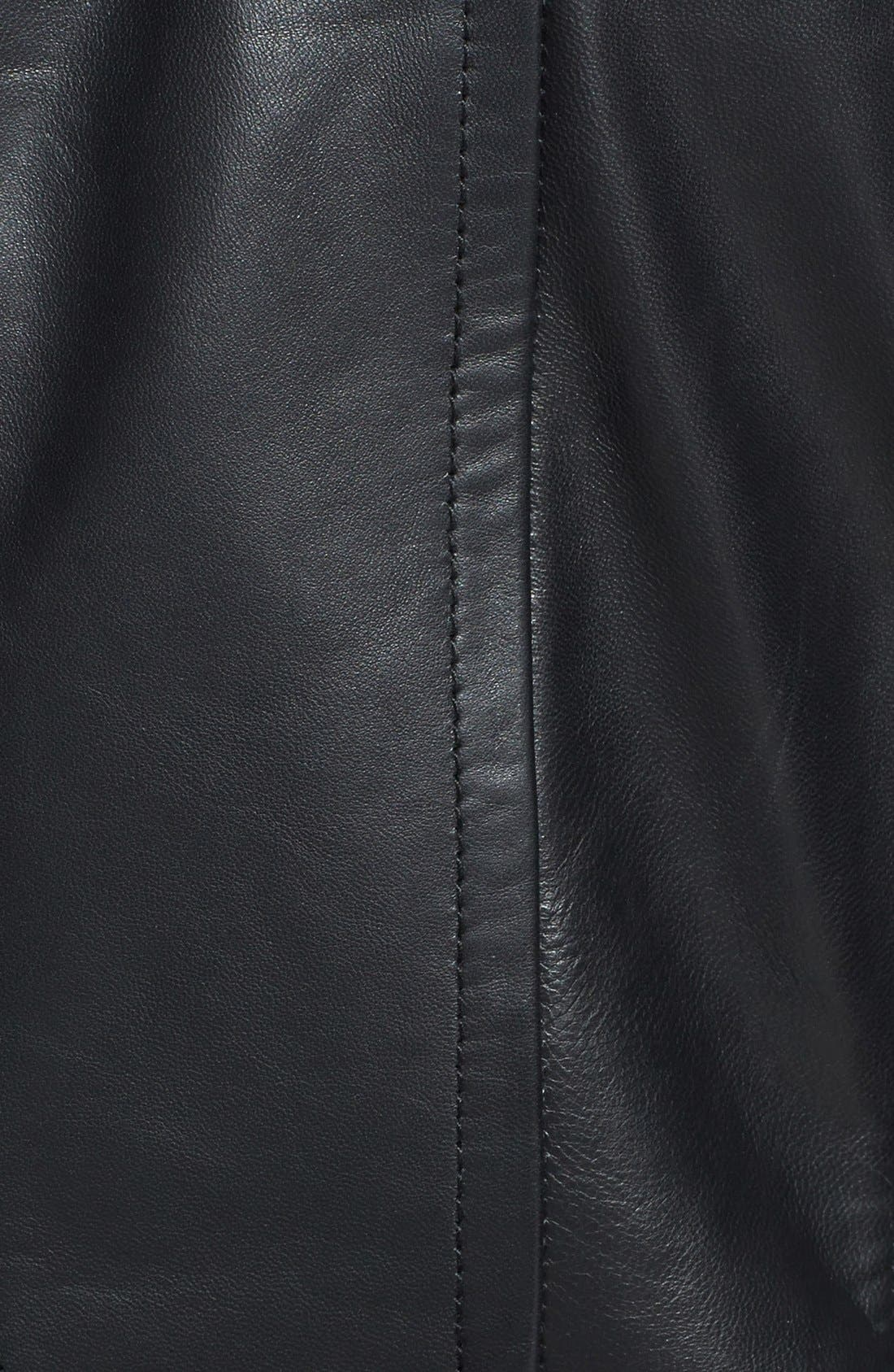 Alternate Image 3  - Ted Baker London 'Lahara' Convertible Collar Leather Jacket