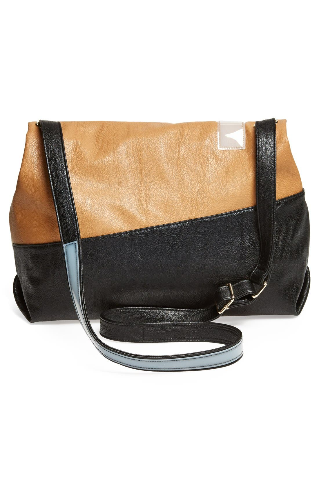 Alternate Image 3  - POVERTY FLATS by rian 'Large' Asymmetrical Faux Leather Crossbody Bag