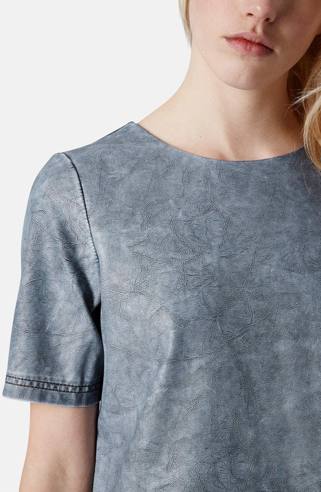 Alternate Image 4  - Topshop 'Daloma' Faux Leather Shift Dress