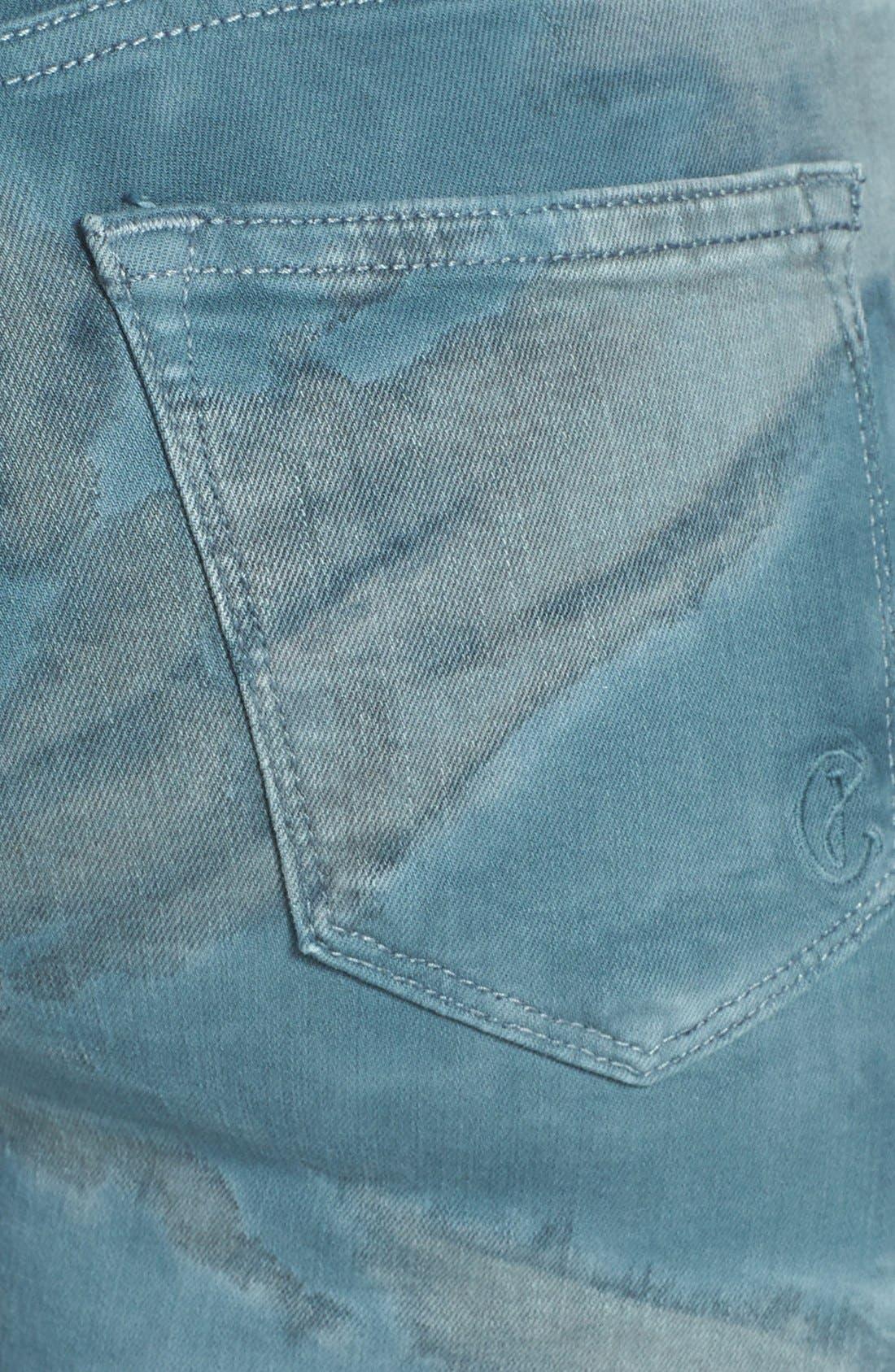 Alternate Image 3  - CJ by Cookie Johnson 'Wisdom' Ombré Tie Dye Ankle Skinny Jeans (Ocean)