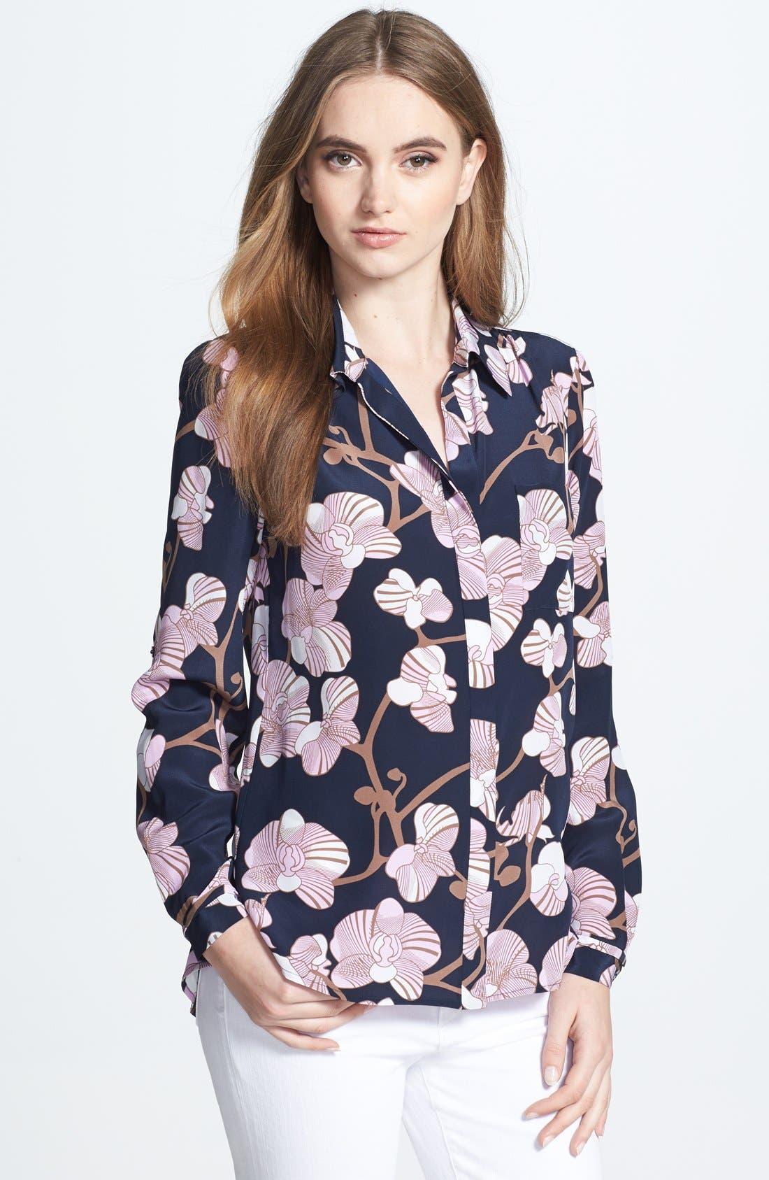 Alternate Image 1 Selected - Diane von Furstenberg 'Lorelei 2' Print Silk Shirt