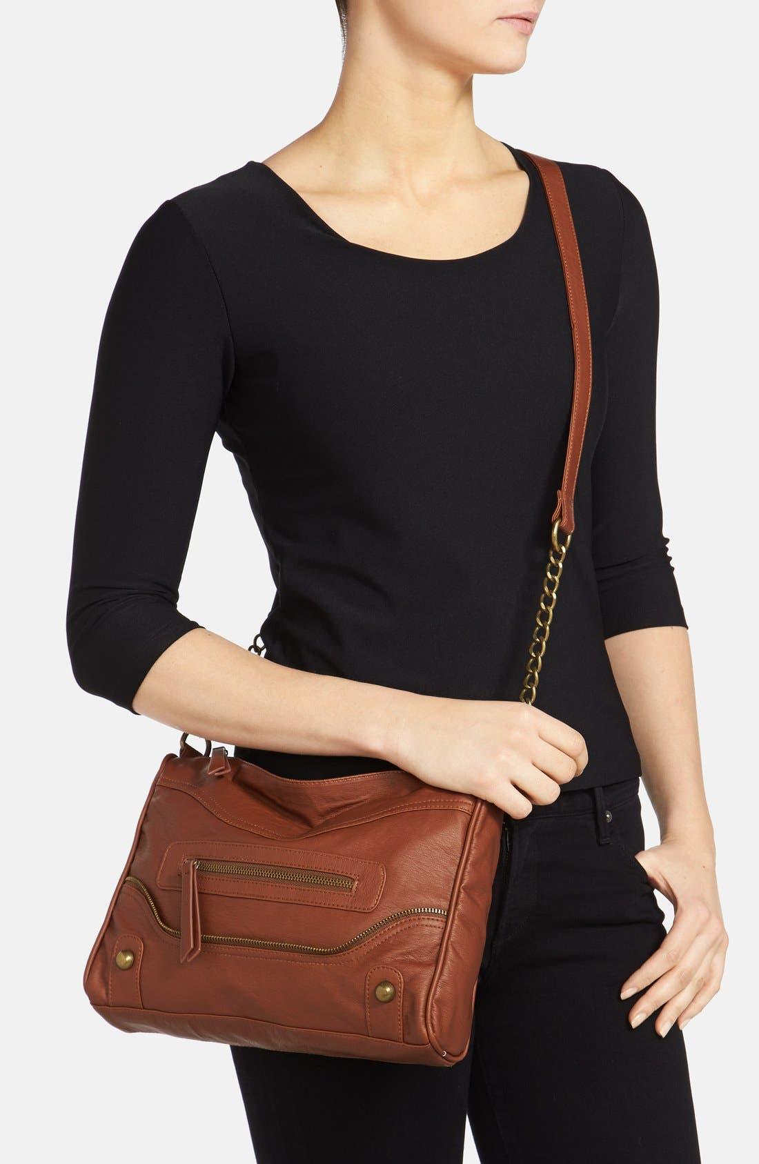 Alternate Image 2  - KENDALL + KYLIE Madden Girl Zip Detail Crossbody Bag (Juniors)