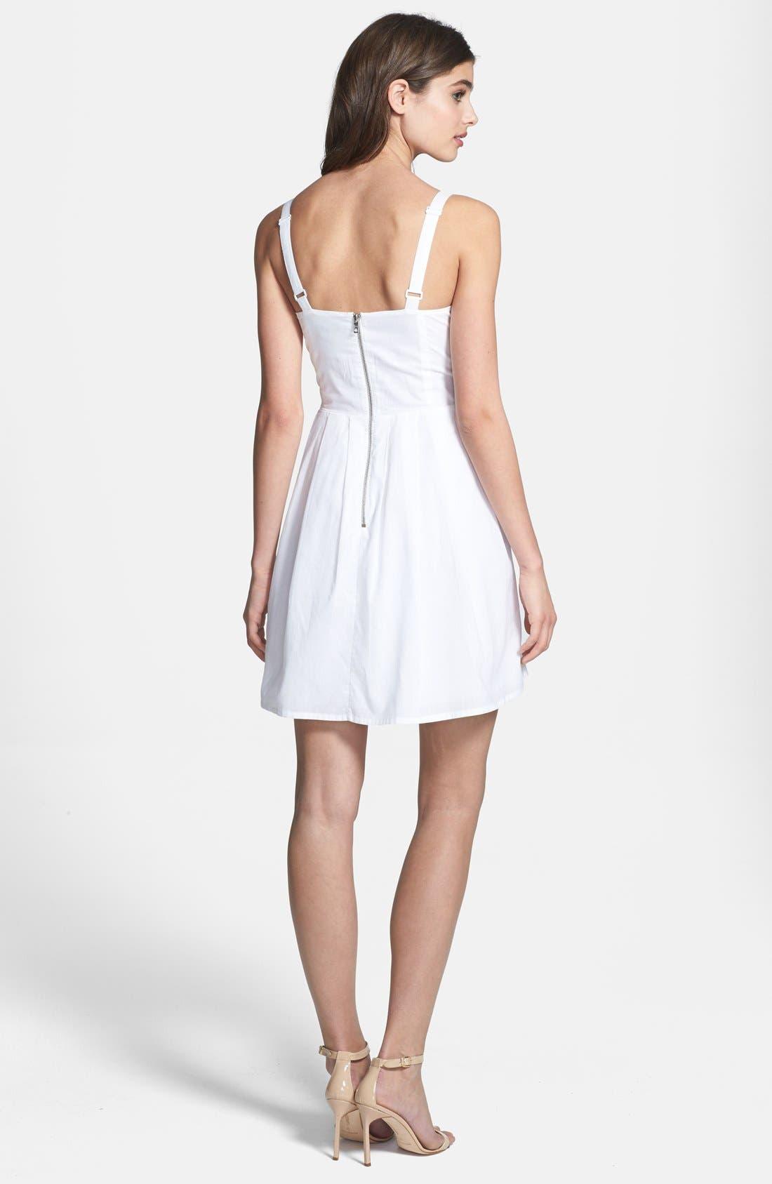 Alternate Image 2  - French Connection 'Monaco Breeze' Cotton Fit & Flare Dress