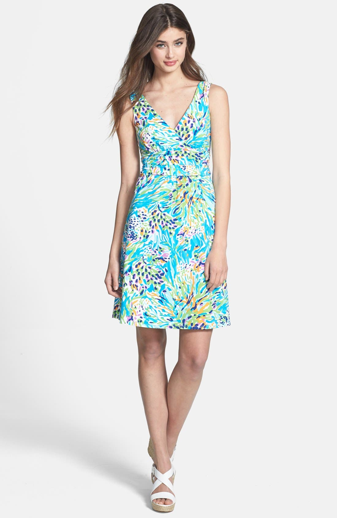 Alternate Image 3  - Lilly Pulitzer® 'Shianne' Print Jersey Fit & Flare Dress