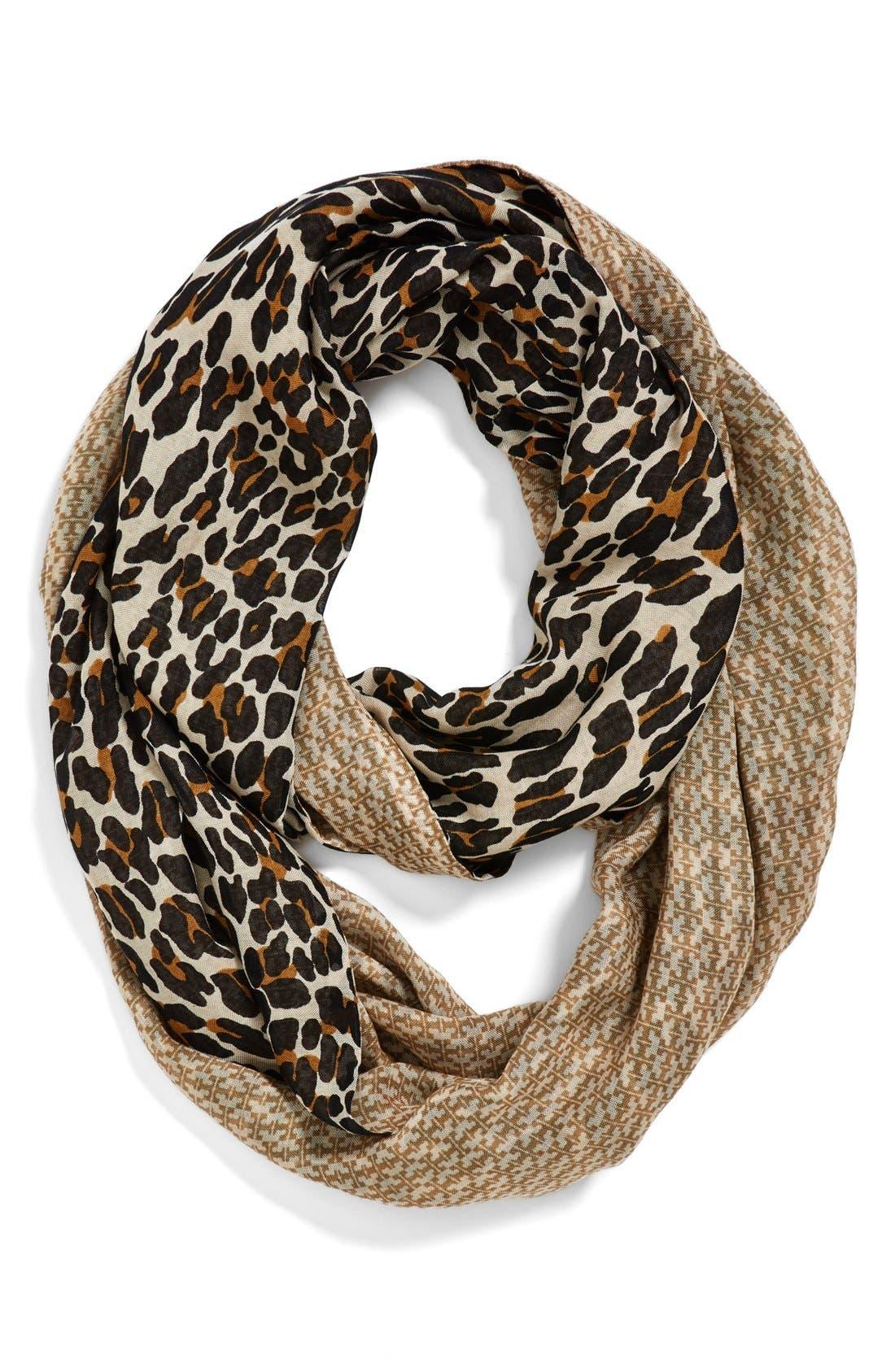 Alternate Image 1 Selected - Tory Burch 'Reva Leopard' Infinity Scarf