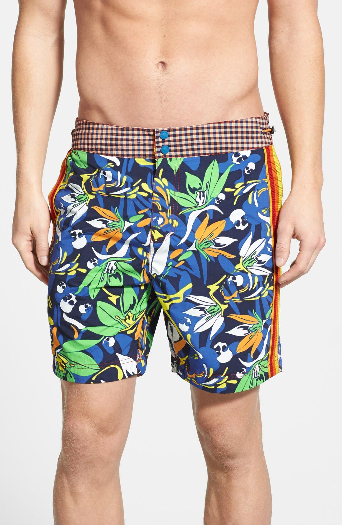 Main Image - Robert Graham 'Alphyn' Regular Fit Swim Trunks