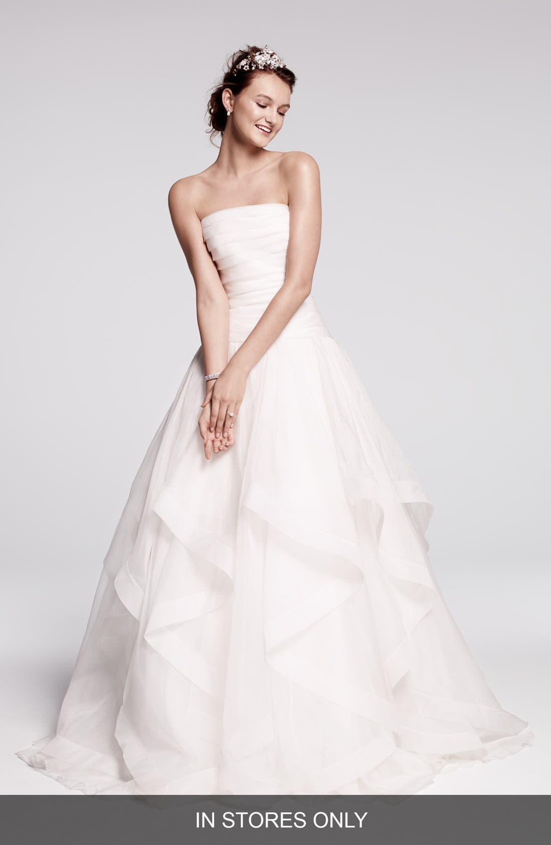 Alternate Image 1 Selected - Rosa Clara 'Cava' Tiered Silk Organza Ballgown (In Stores Only)