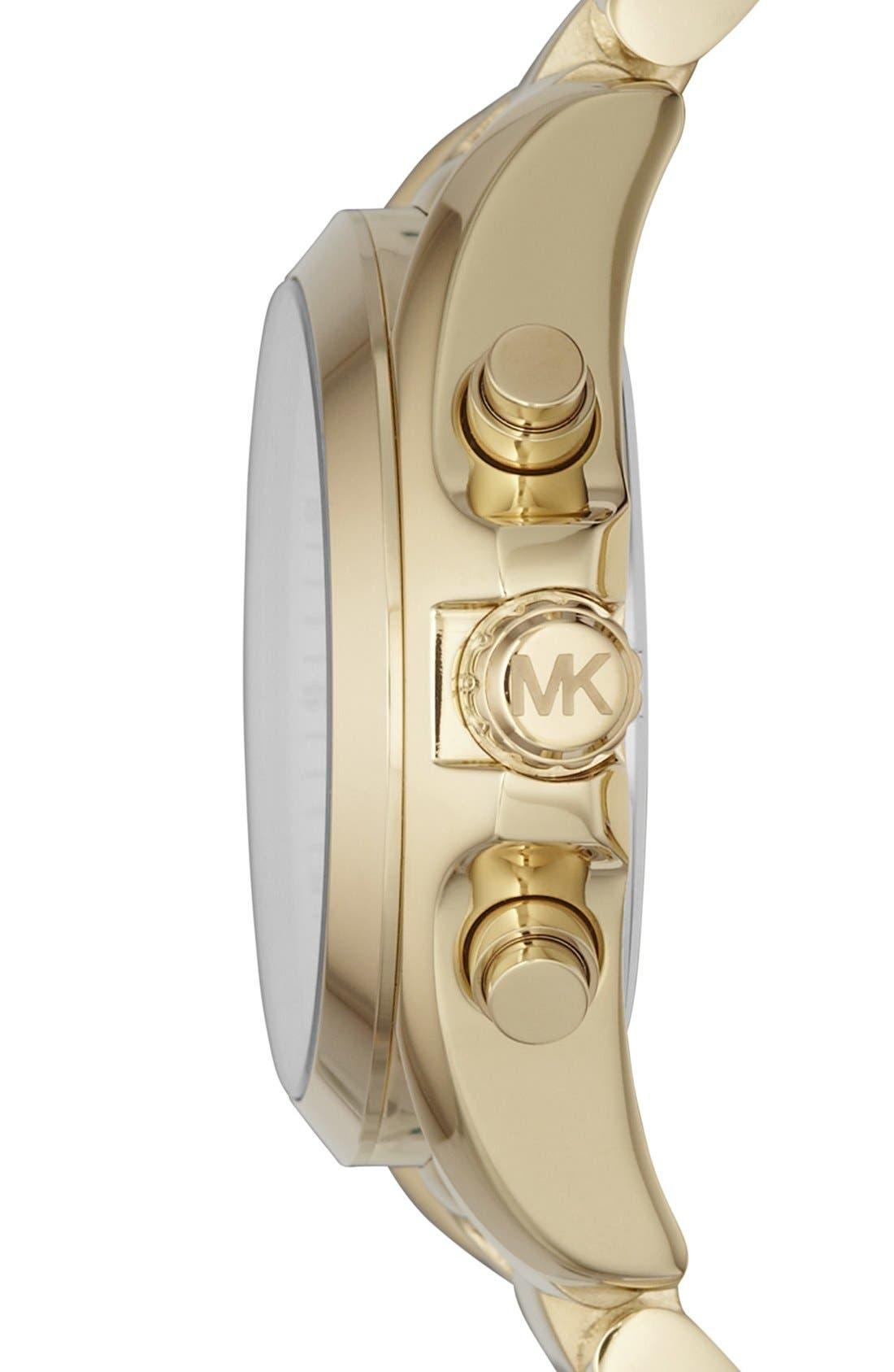 Alternate Image 3  - Michael Kors 'Bradshaw - Mini' Chronograph Bracelet Watch, 36mm