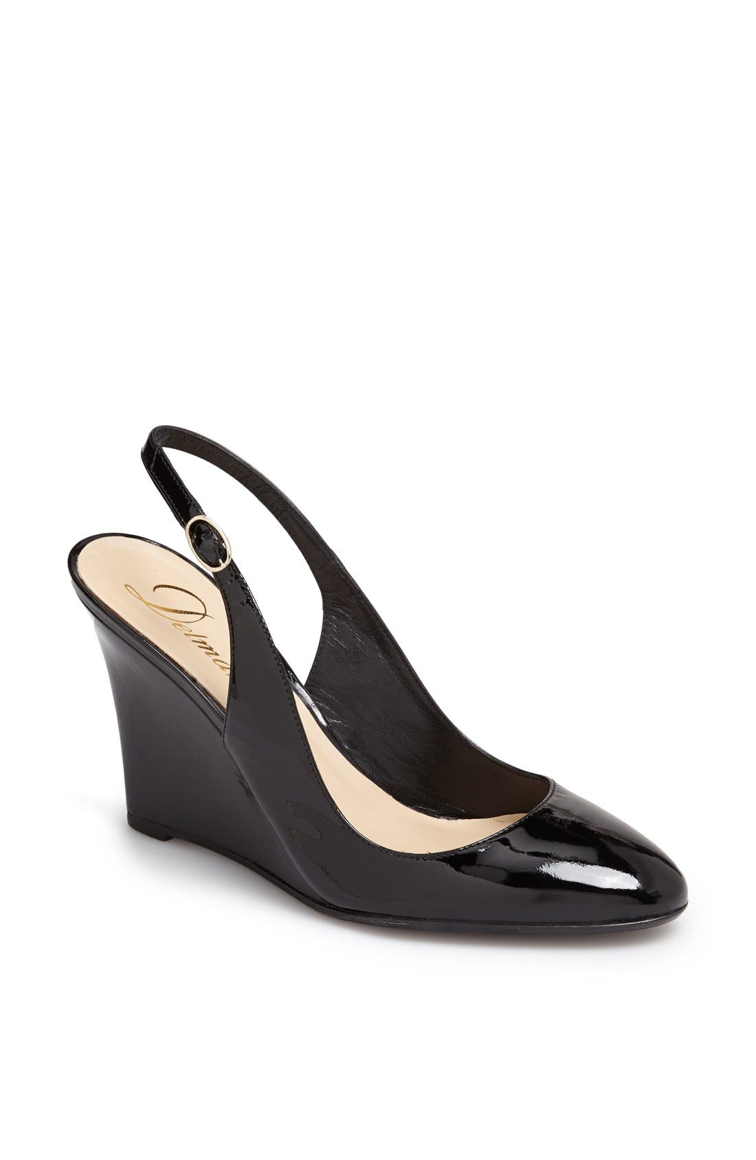 Alternate Image 1 Selected - Delman 'Rosa' Slingback Almond Toe Wedge