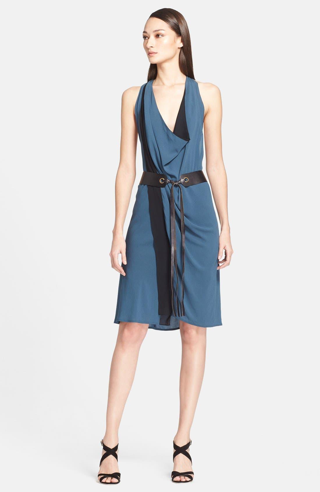 Alternate Image 1 Selected - Donna Karan New York Two-Tone Crepe Dress