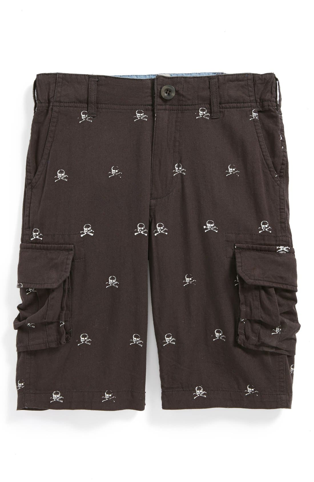 Main Image - Peek 'Skull' Cargo Shorts (Toddler Boys, Little Boys & Big Boys)