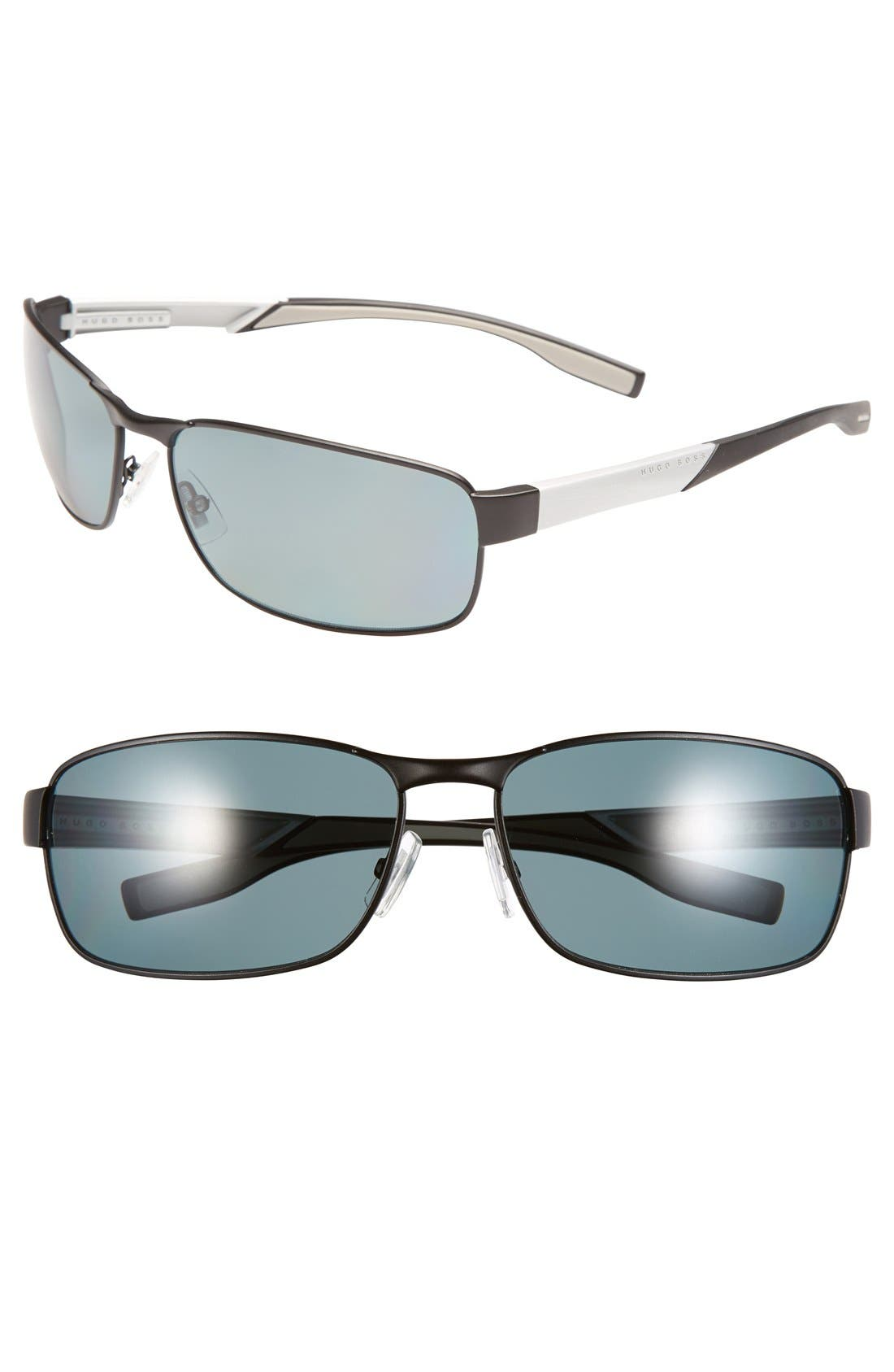 Alternate Image 1 Selected - BOSS 65mm Polarized Sunglasses