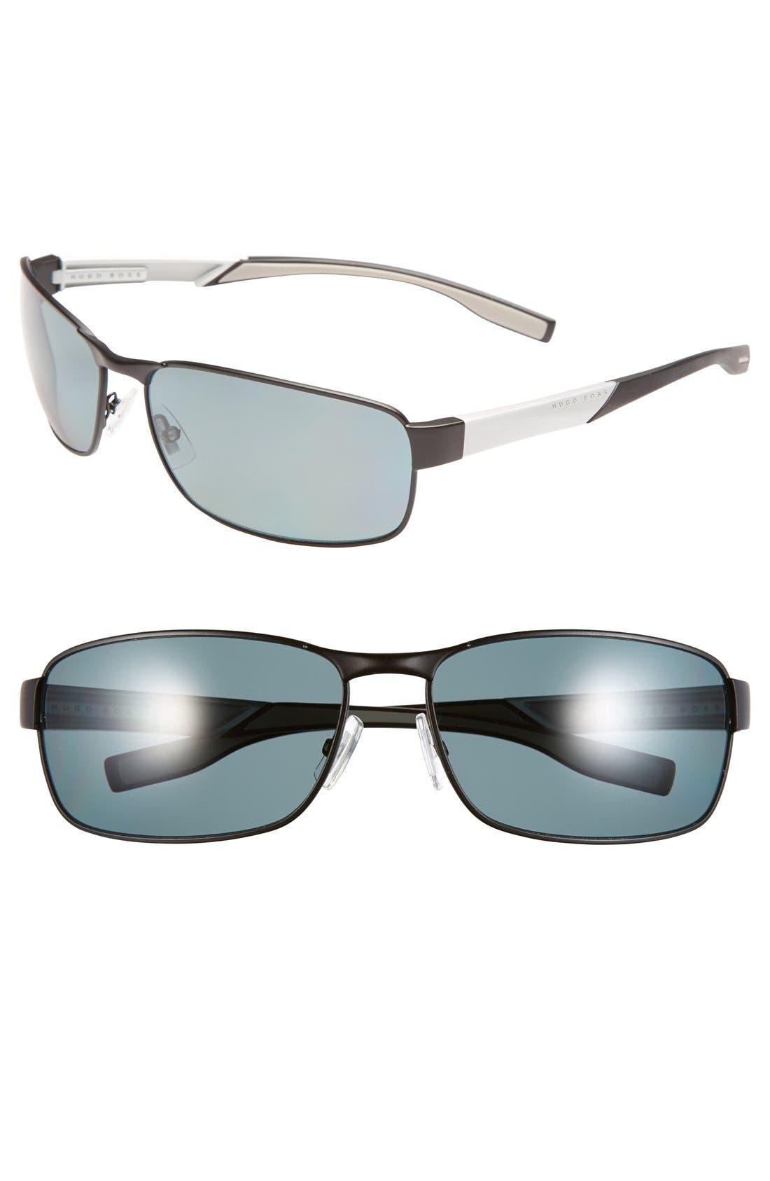 Main Image - BOSS 65mm Polarized Sunglasses