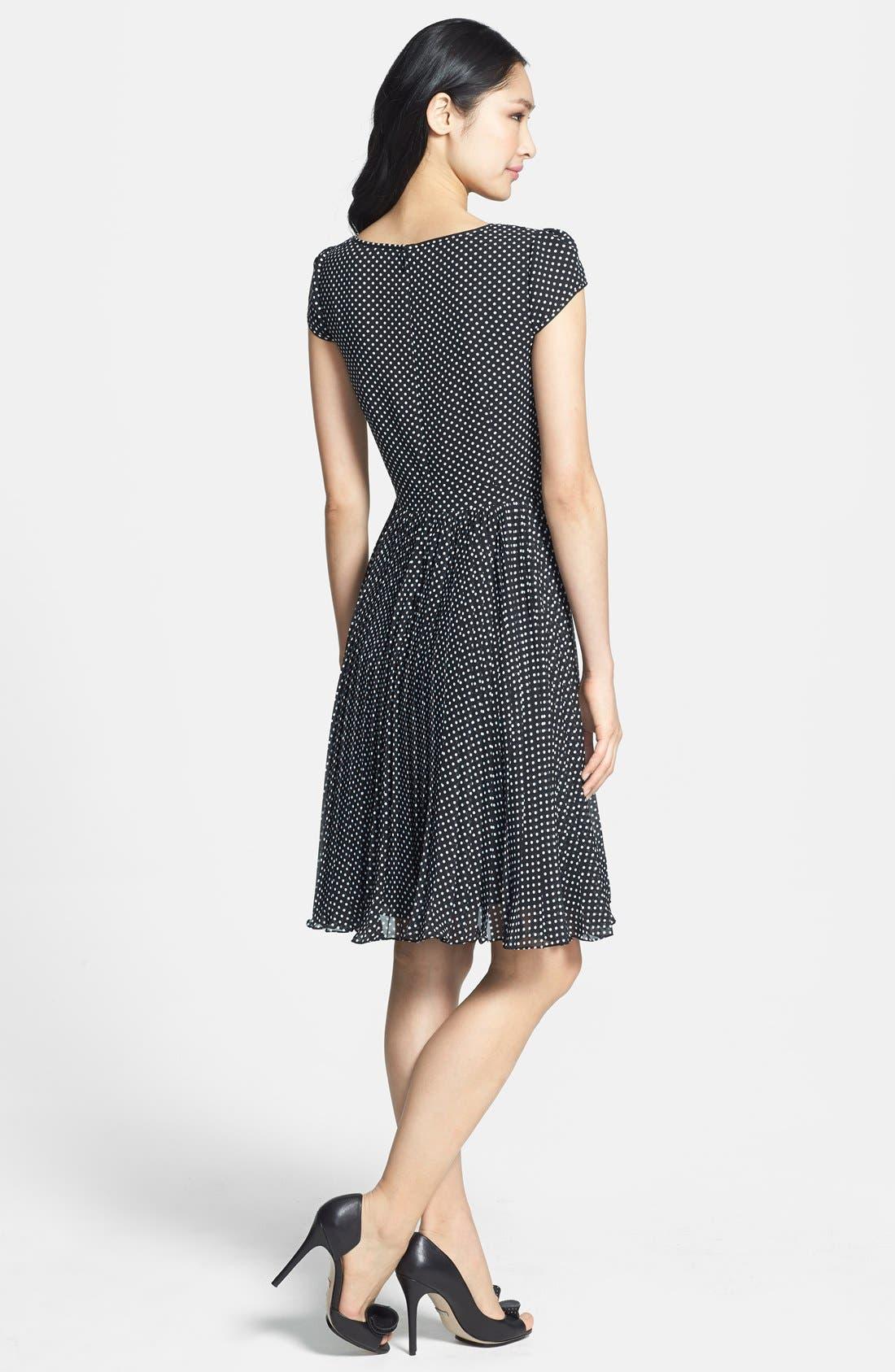 Alternate Image 2  - Adrianna Papell Polka Dot Cutout Fit & Flare Dress (Regular & Petite)
