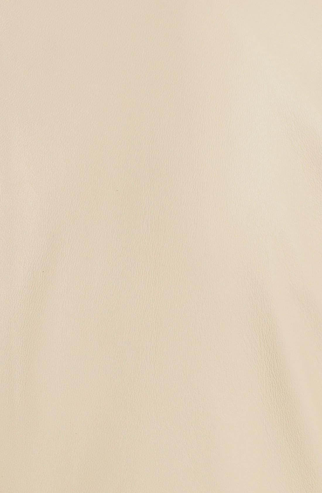 Alternate Image 3  - Halogen® 'Powder' Lambskin Leather Jacket (Plus Size)