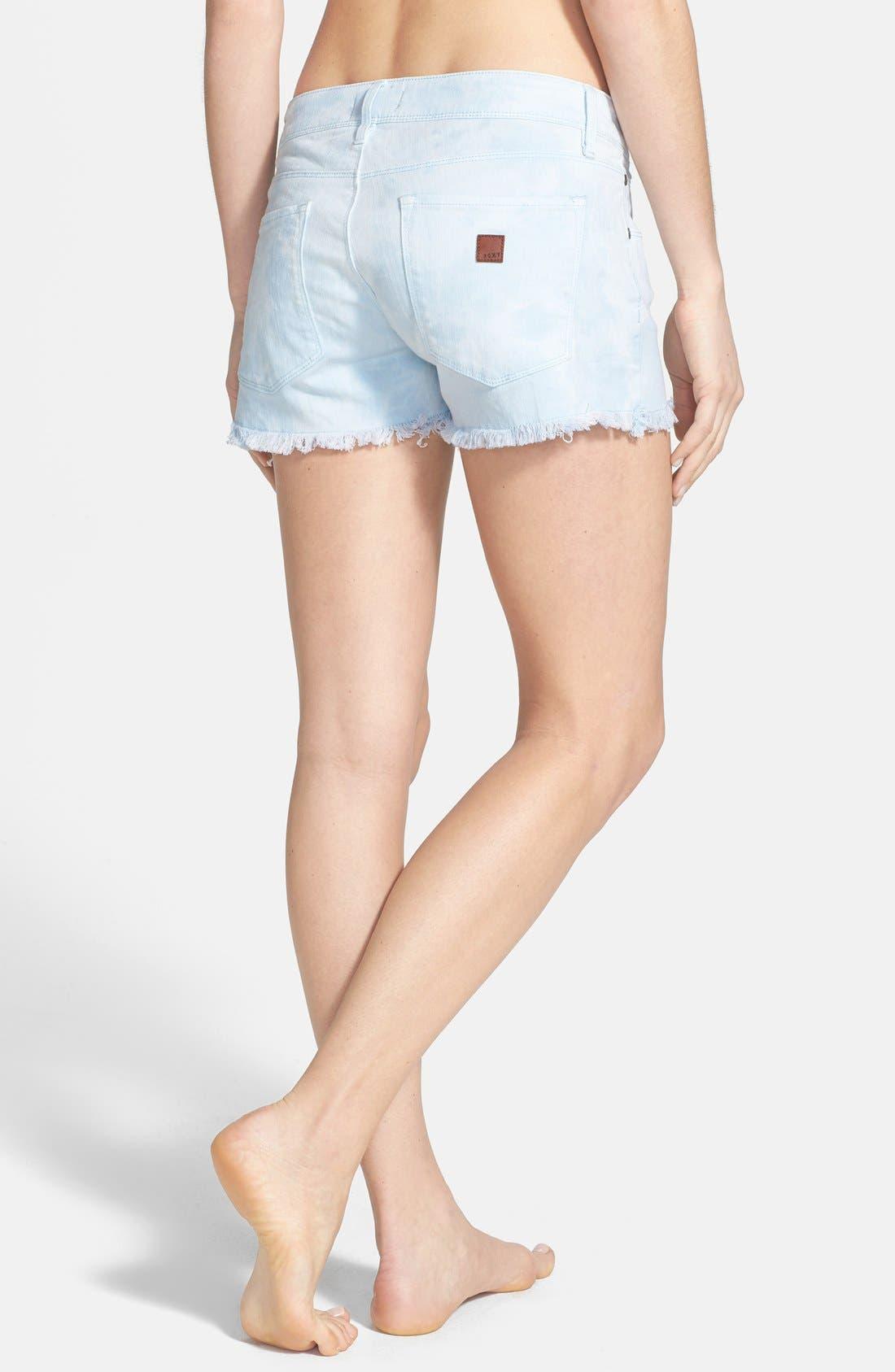 Alternate Image 2  - Roxy 'Lovin' Tie Dye Cutoff Denim Shorts