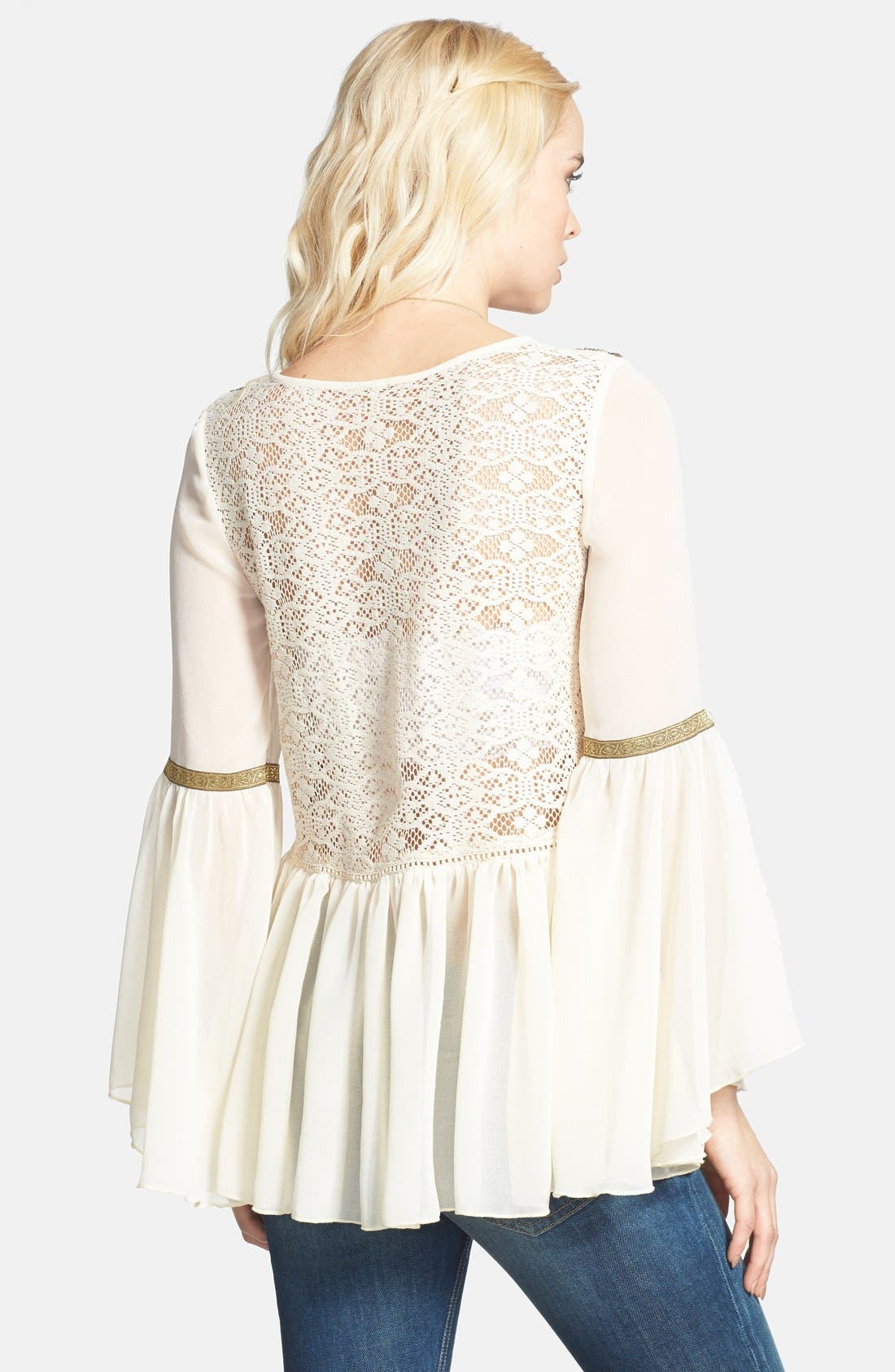 Alternate Image 2  - Free People 'Golden Moments' Embroidered Lace Inset Tunic