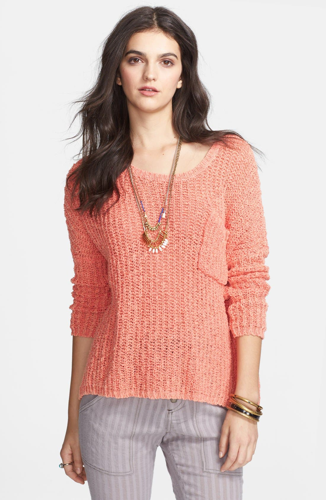 Main Image - Free People 'Greenwich' Cotton Pullover