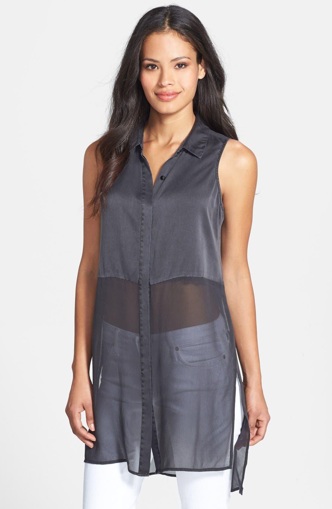 Main Image - Eileen Fisher Sleeveless Silk Shirt
