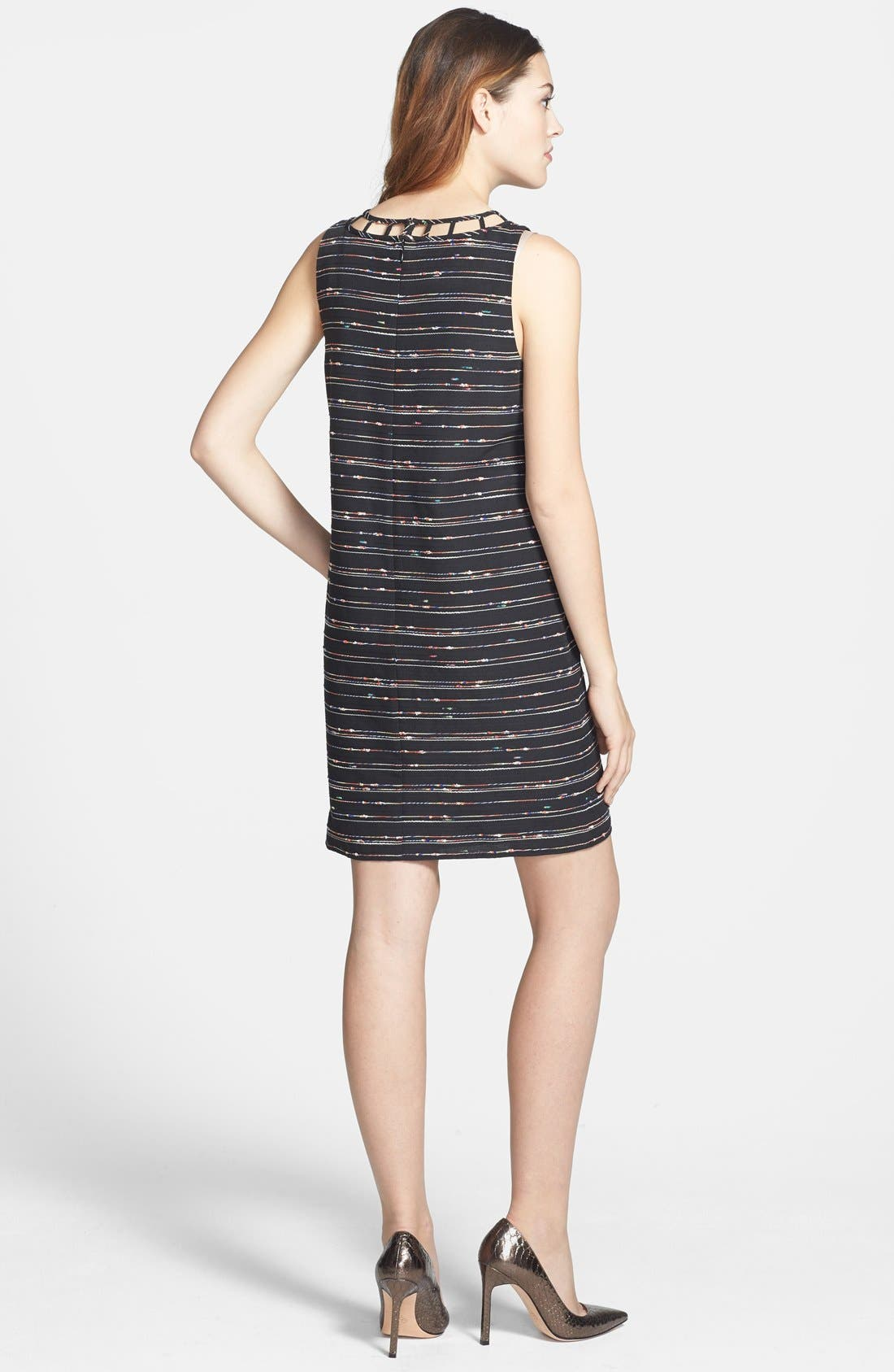 Alternate Image 2  - Vince Camuto Caged Neck Woven Shift Dress