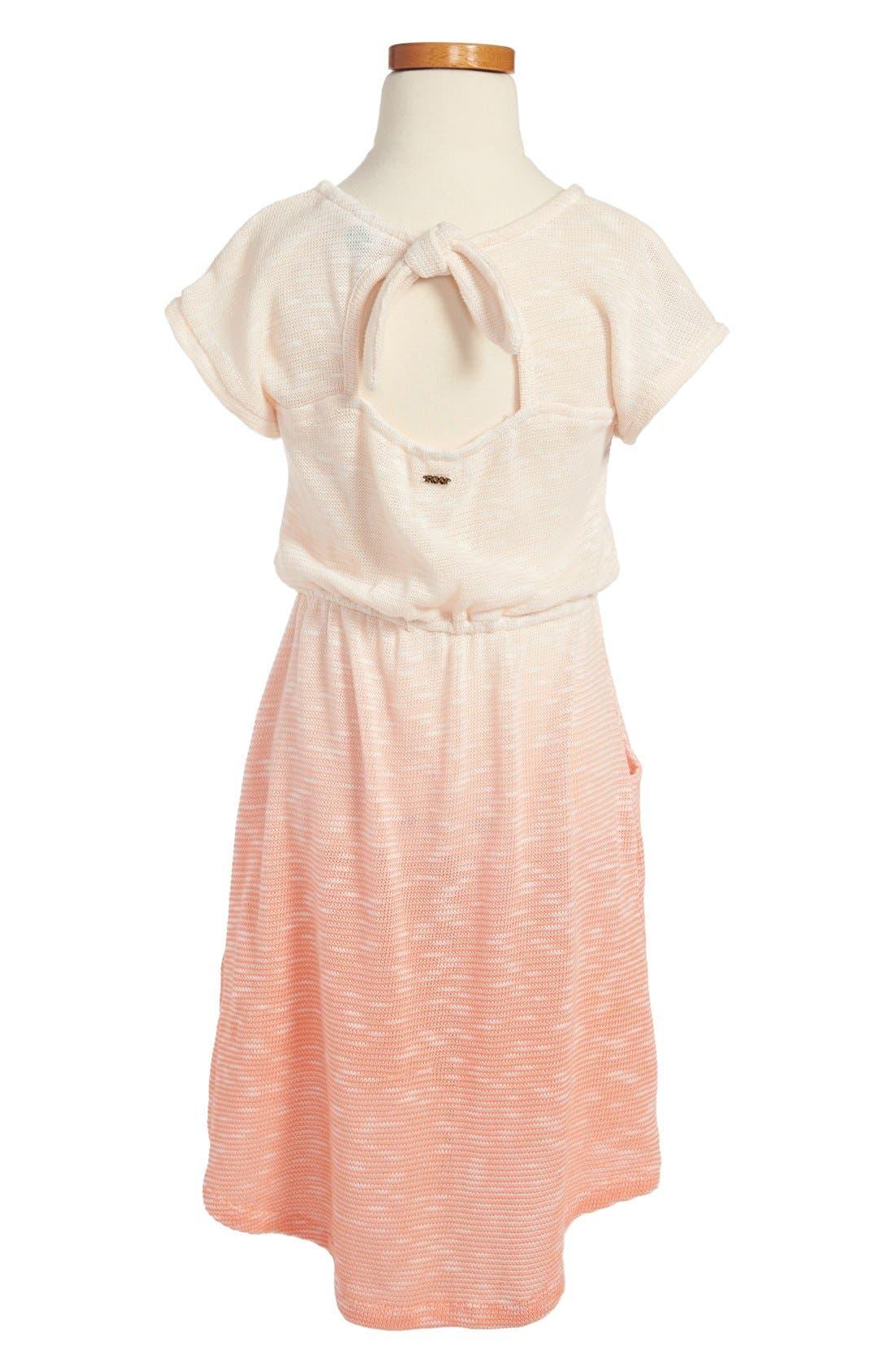 Alternate Image 2  - Roxy 'Sunny Slope' Short Sleeve Dress (Big Girls)