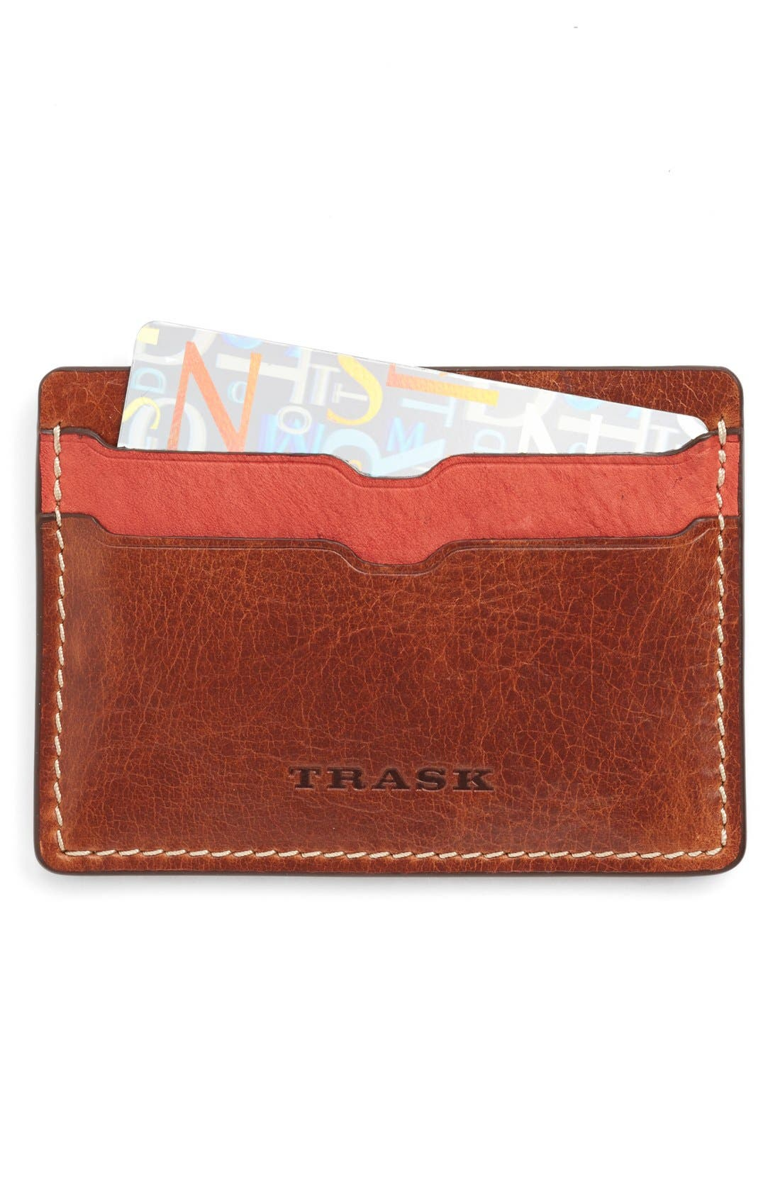 TRASK Jackson Bison Leather Card Case
